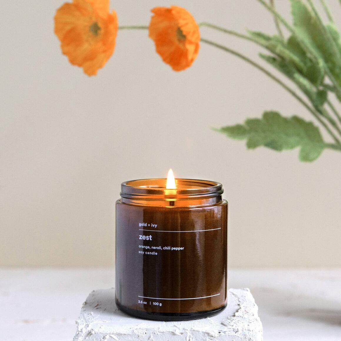 zest 3.5 oz. soy candle - mini | Trada Marketplace