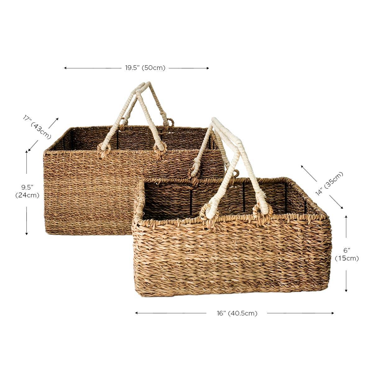 Savar Picnic SQ Basket (Set of 2) | Trada Marketplace