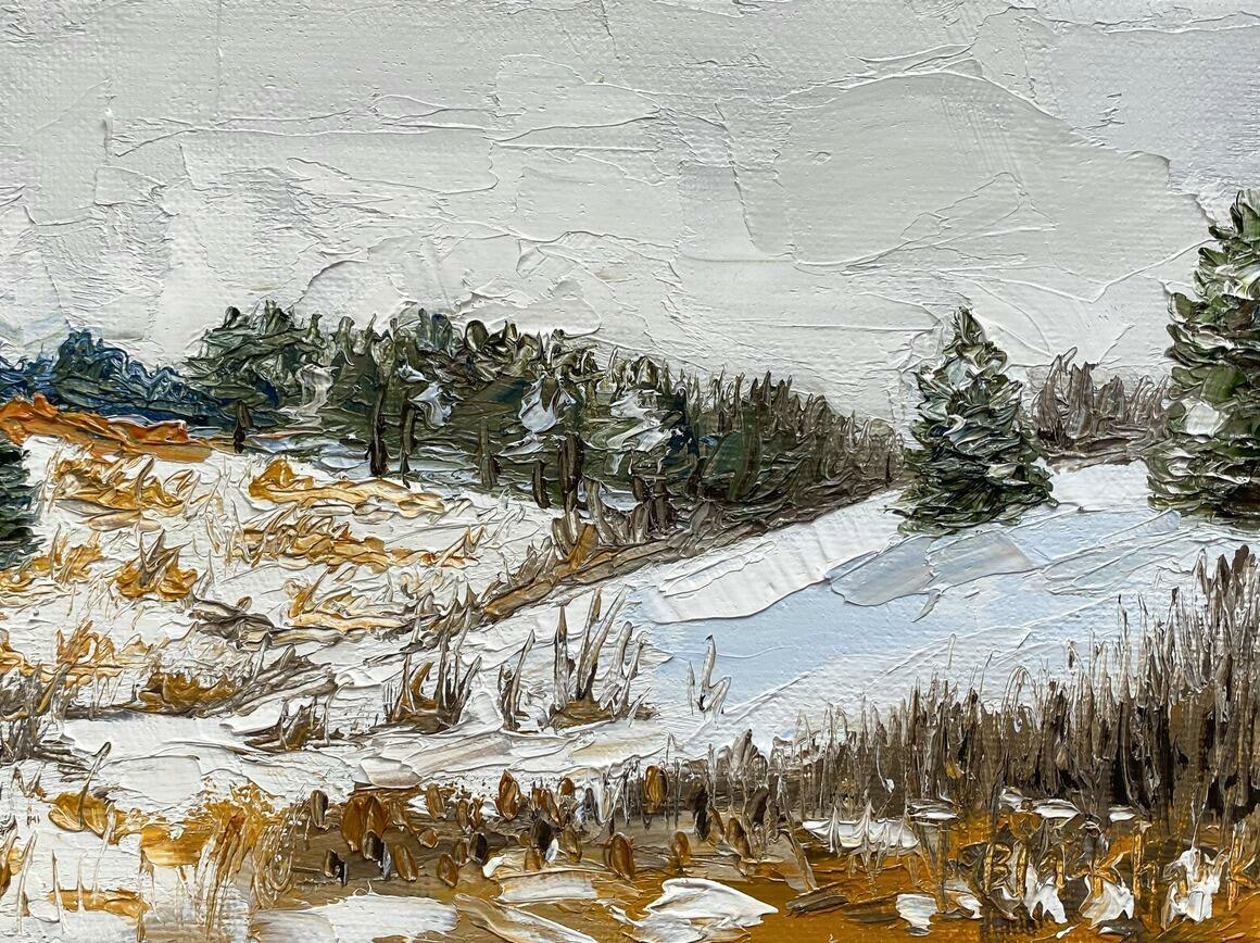 Fresh Snow Horizontal Canvas Print   Trada Marketplace