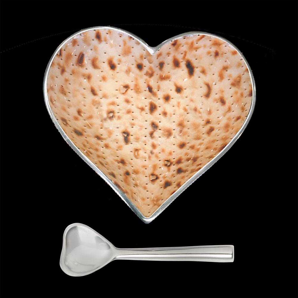 Happy Matza Heart with Heart Spoon   Trada Marketplace