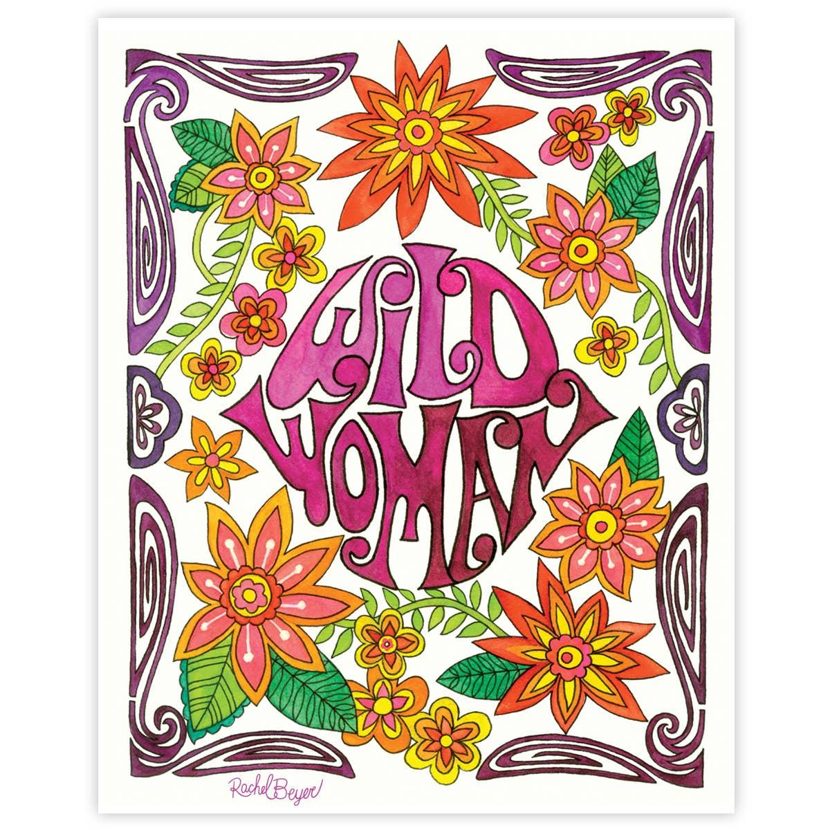 Wild Woman Art Print | Trada Marketplace