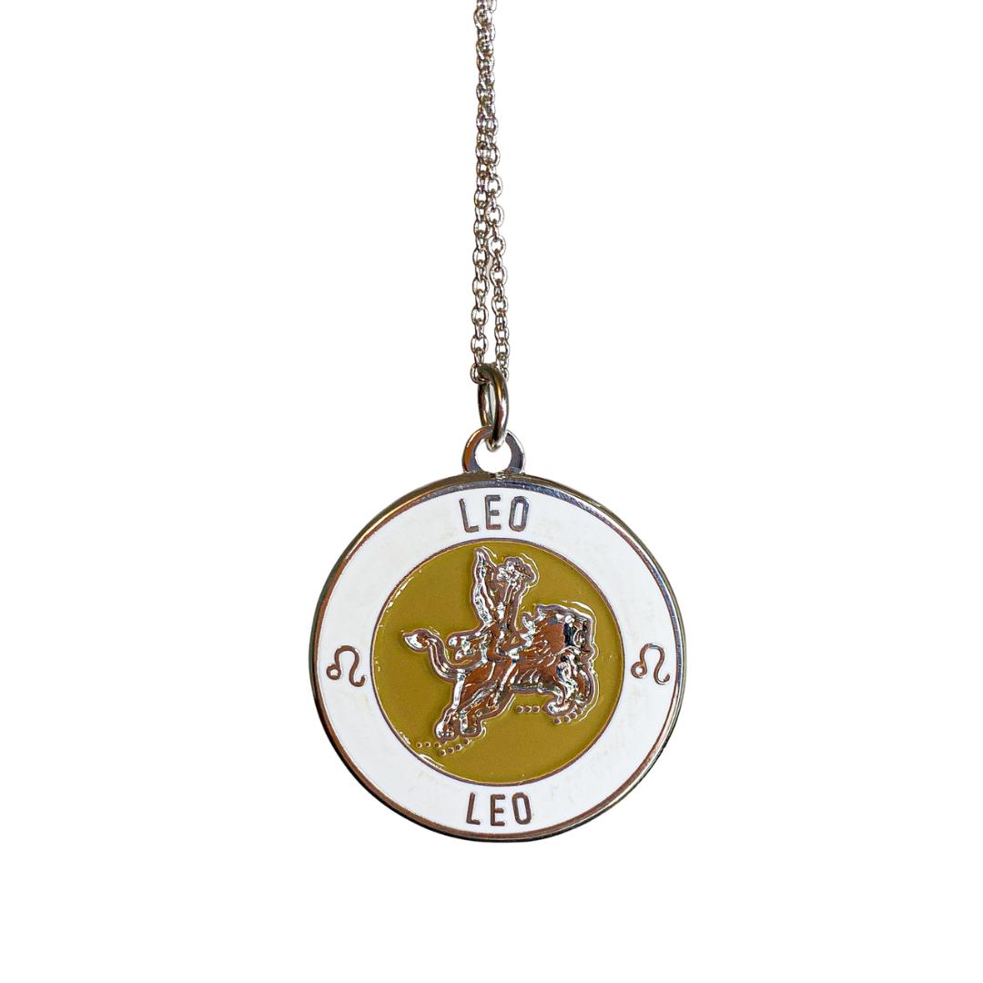Leo Enamel Zodiac Pendant   Trada Marketplace
