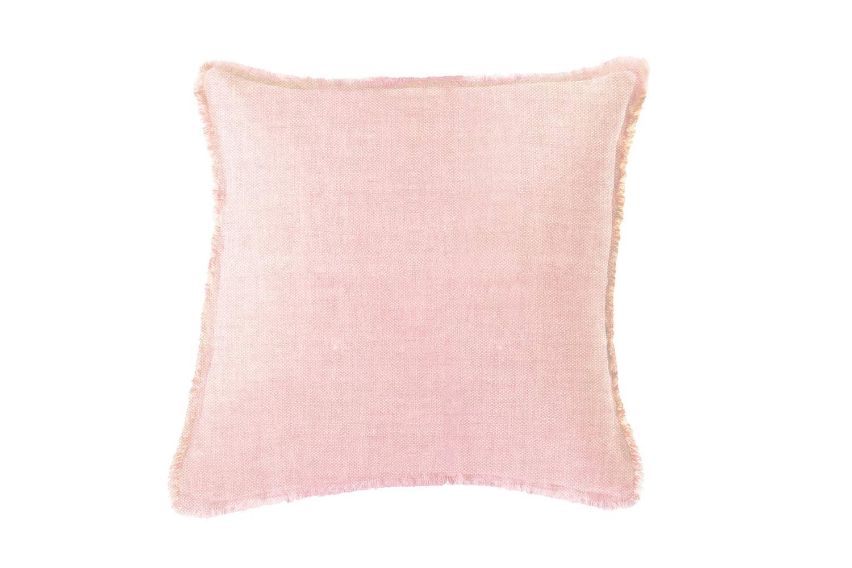 Light Pink Solid Soft Linen Pillow   Trada Marketplace