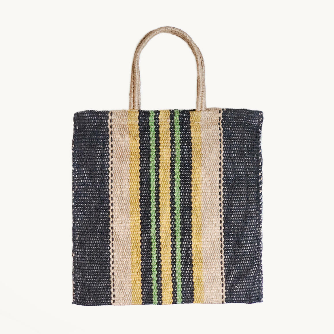 Dora Jute Tote Bag - Multi Navy | Trada Marketplace