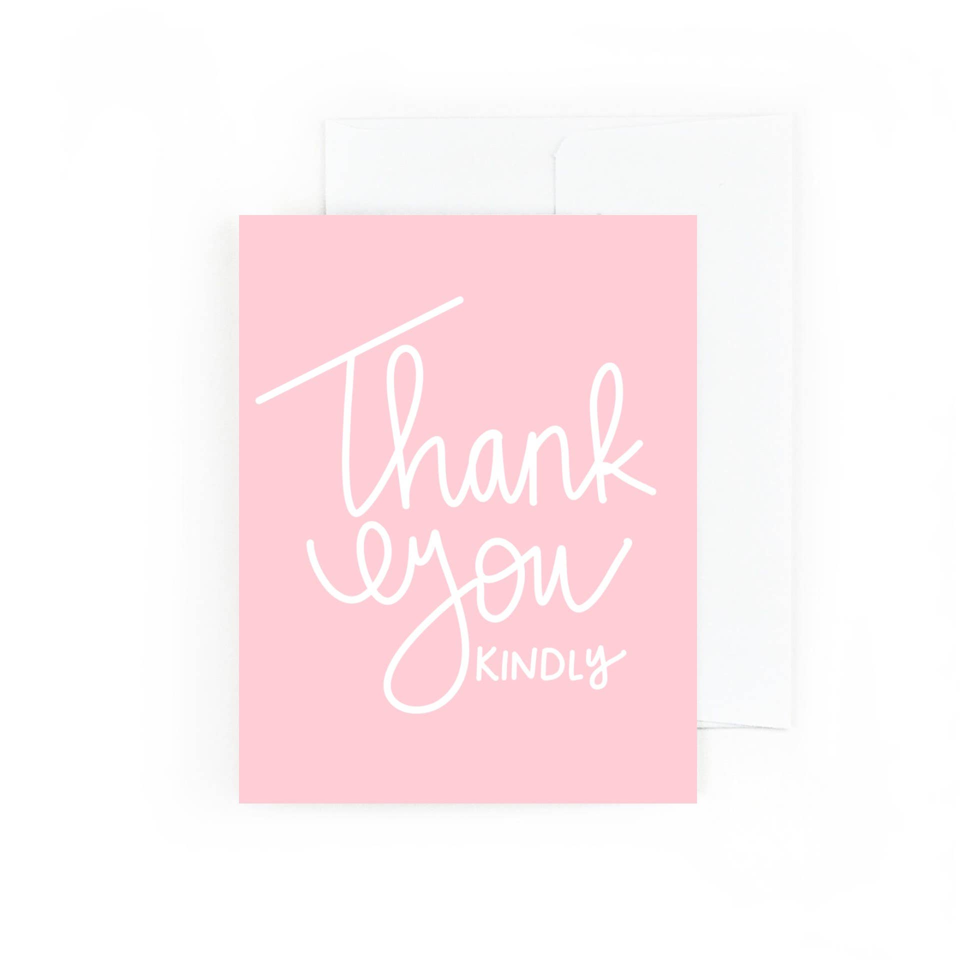 Light Pink Thank You Kindly | Trada Marketplace