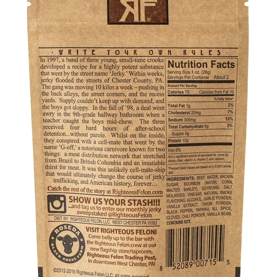 Bourbon Franklin Beef Jerky | Trada Marketplace