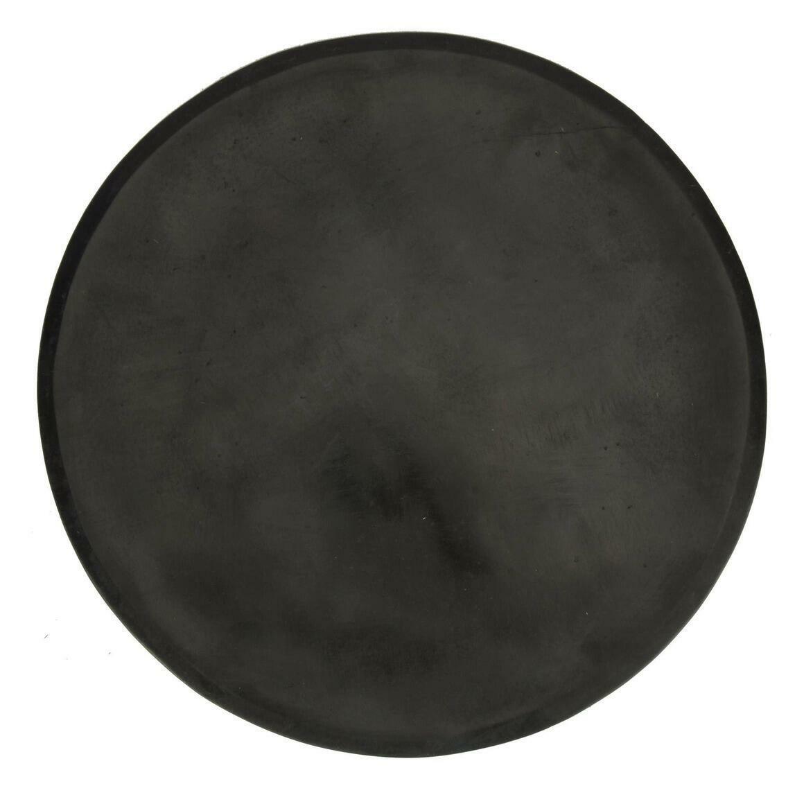 "Makrana Chiseled Black Marble Platter (15"")   Trada Marketplace"