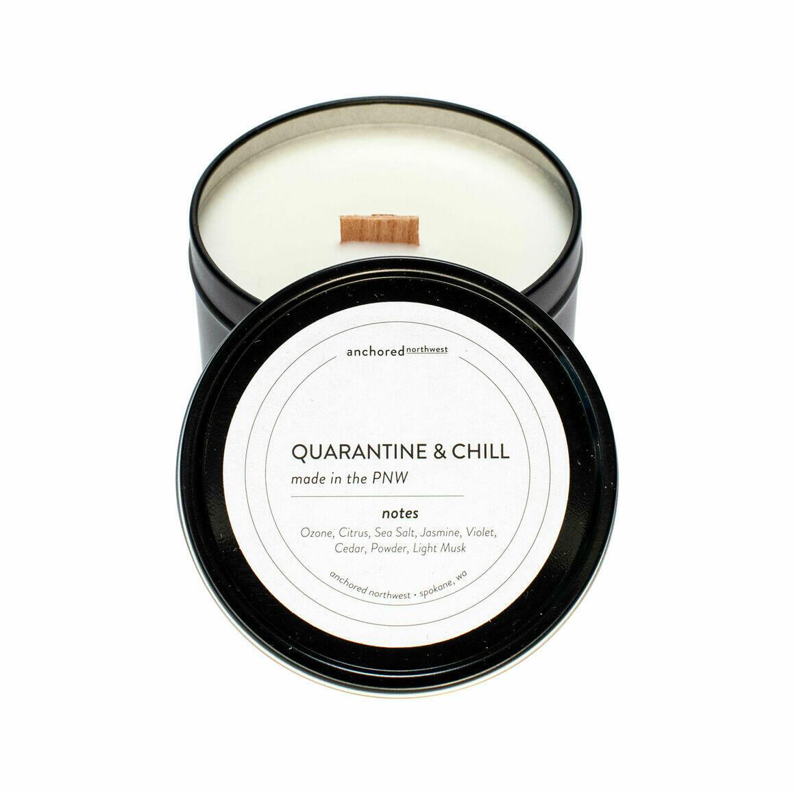Quarantine & Chill Black Travel Tin | Trada Marketplace