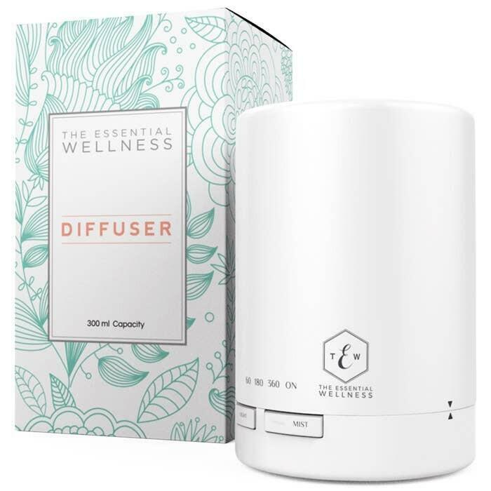 The Essential Wellness 300ml Essential Oil Diffuser-White   Trada Marketplace