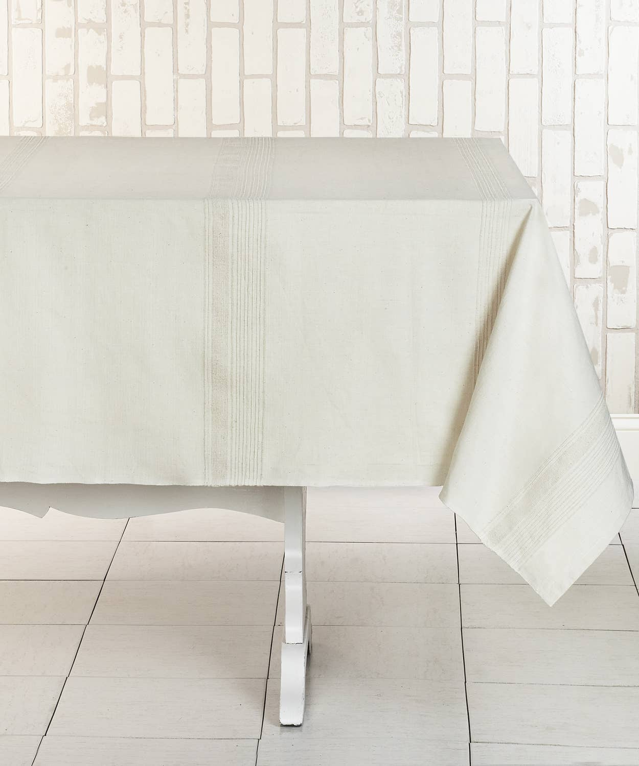 WHIPPED CREAM Tablecloth Handwoven Cotton | Trada Marketplace