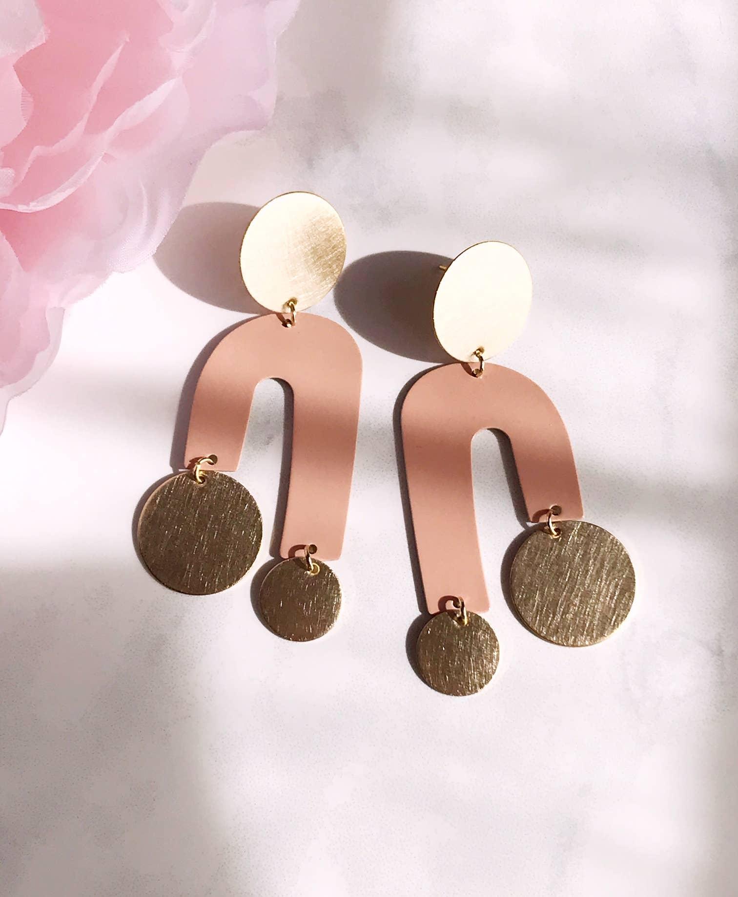manhattan earrings - blush   Trada Marketplace
