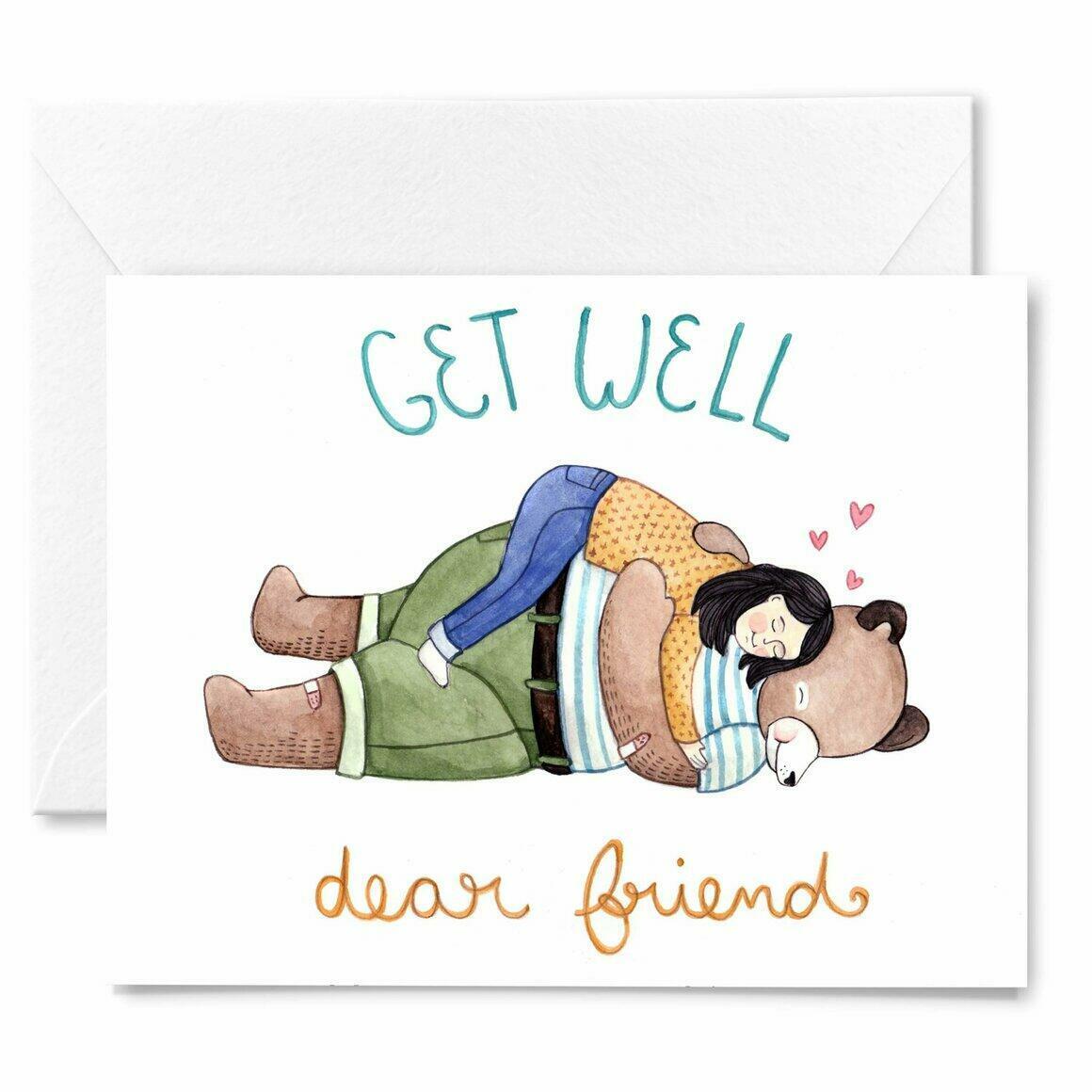 Get Well, Dear Friend Card | Trada Marketplace