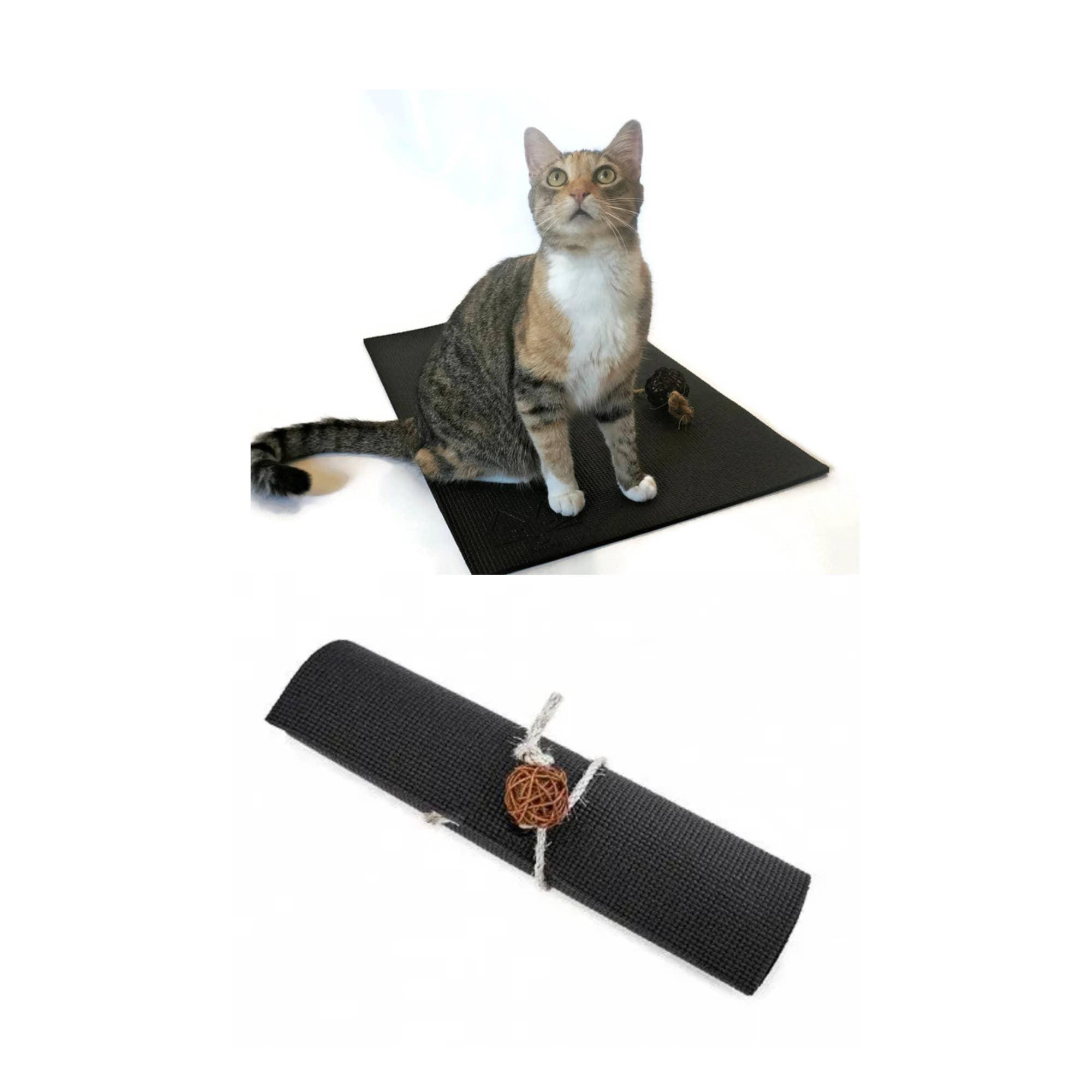 Black Yoga Cat Mat   Trada Marketplace