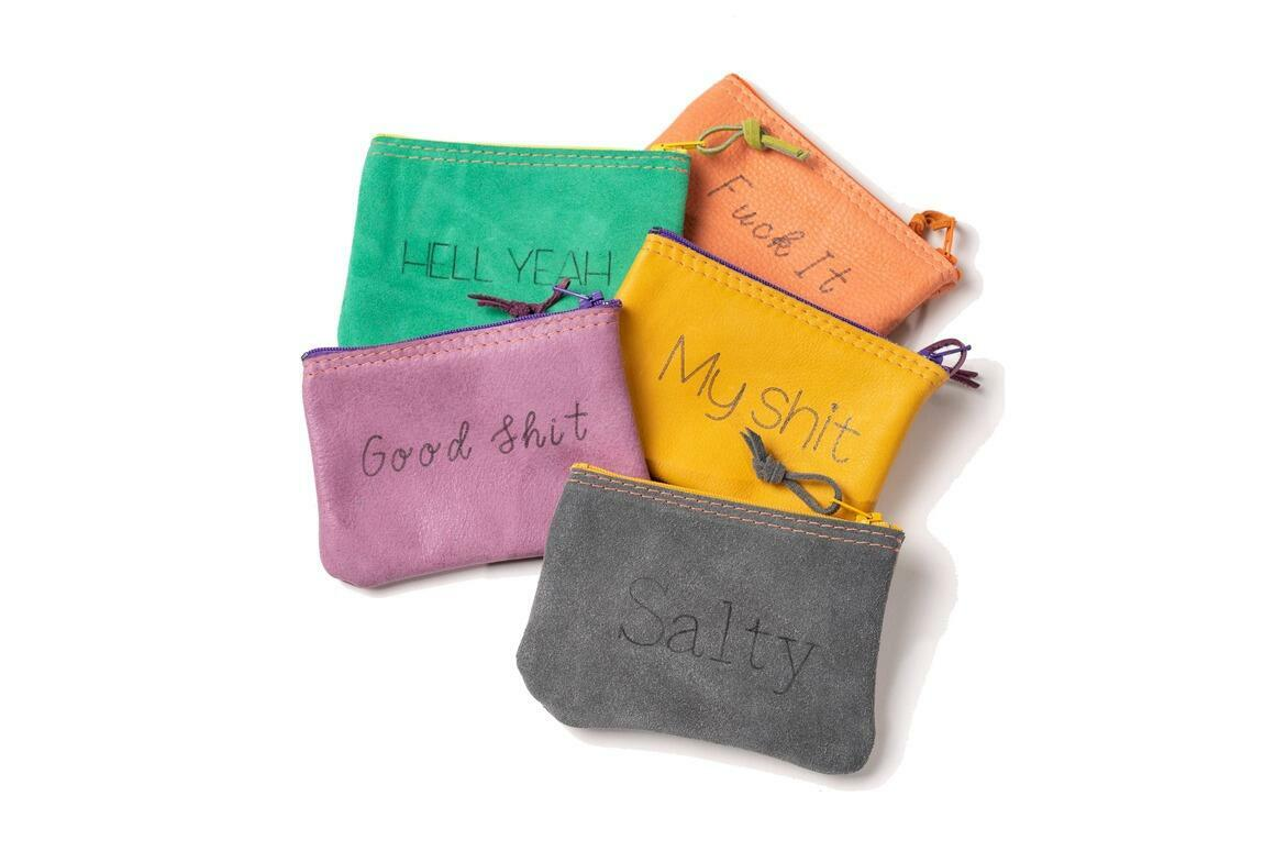 Inappropriate  Leather Pouch medium set | Trada Marketplace