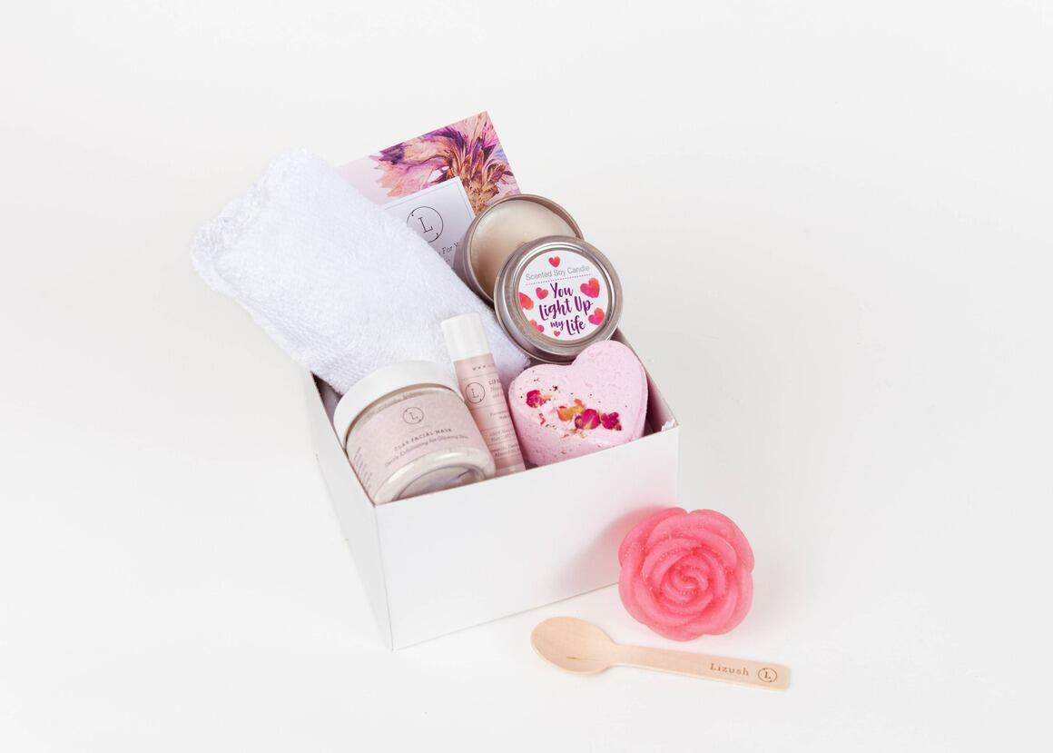 LOVE Spa Gift Set - 6 Products in a gift box   Trada Marketplace