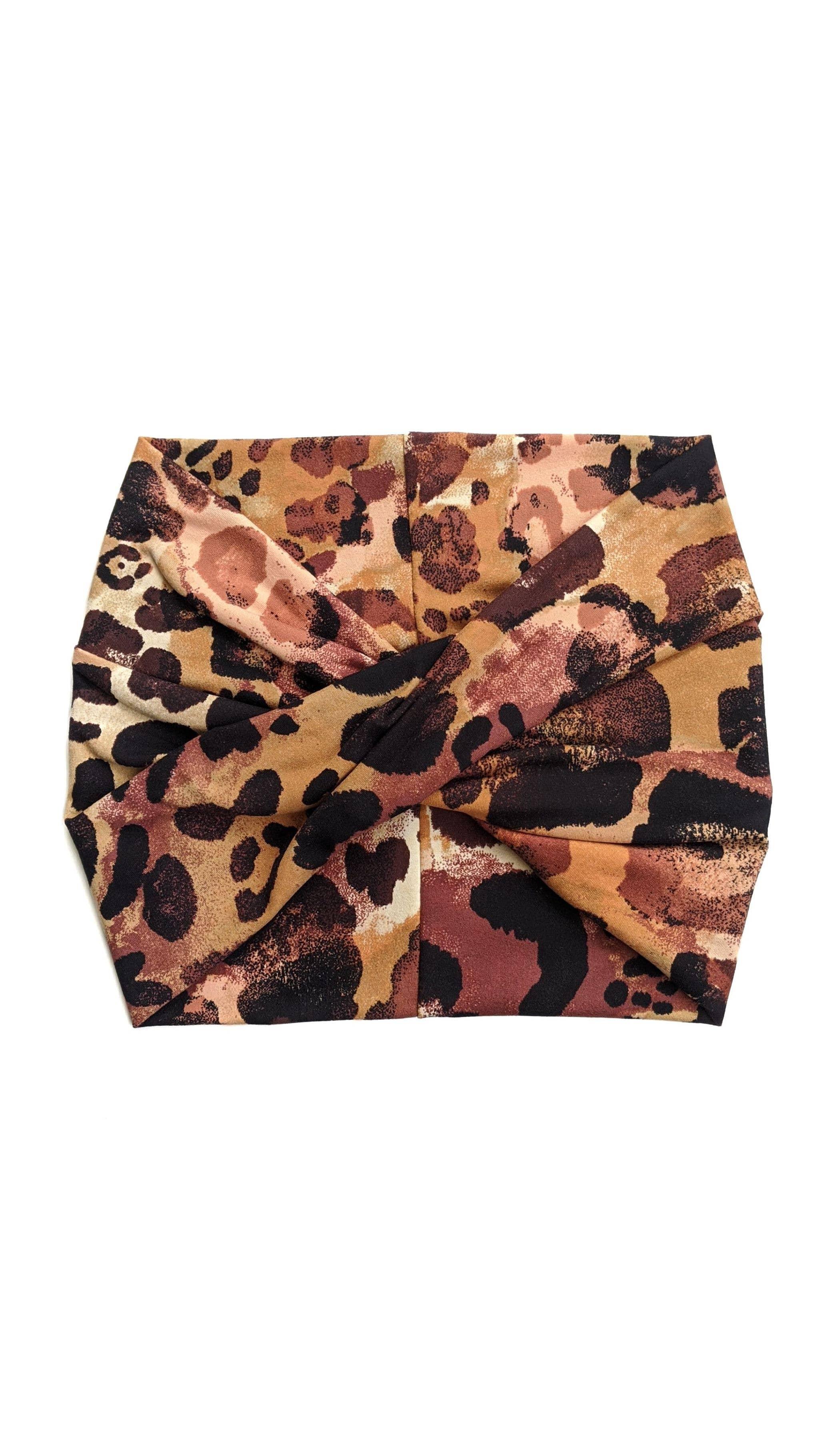 Painted Leopard - Wide Headband | Turban | Twist | Yoga | Trada Marketplace