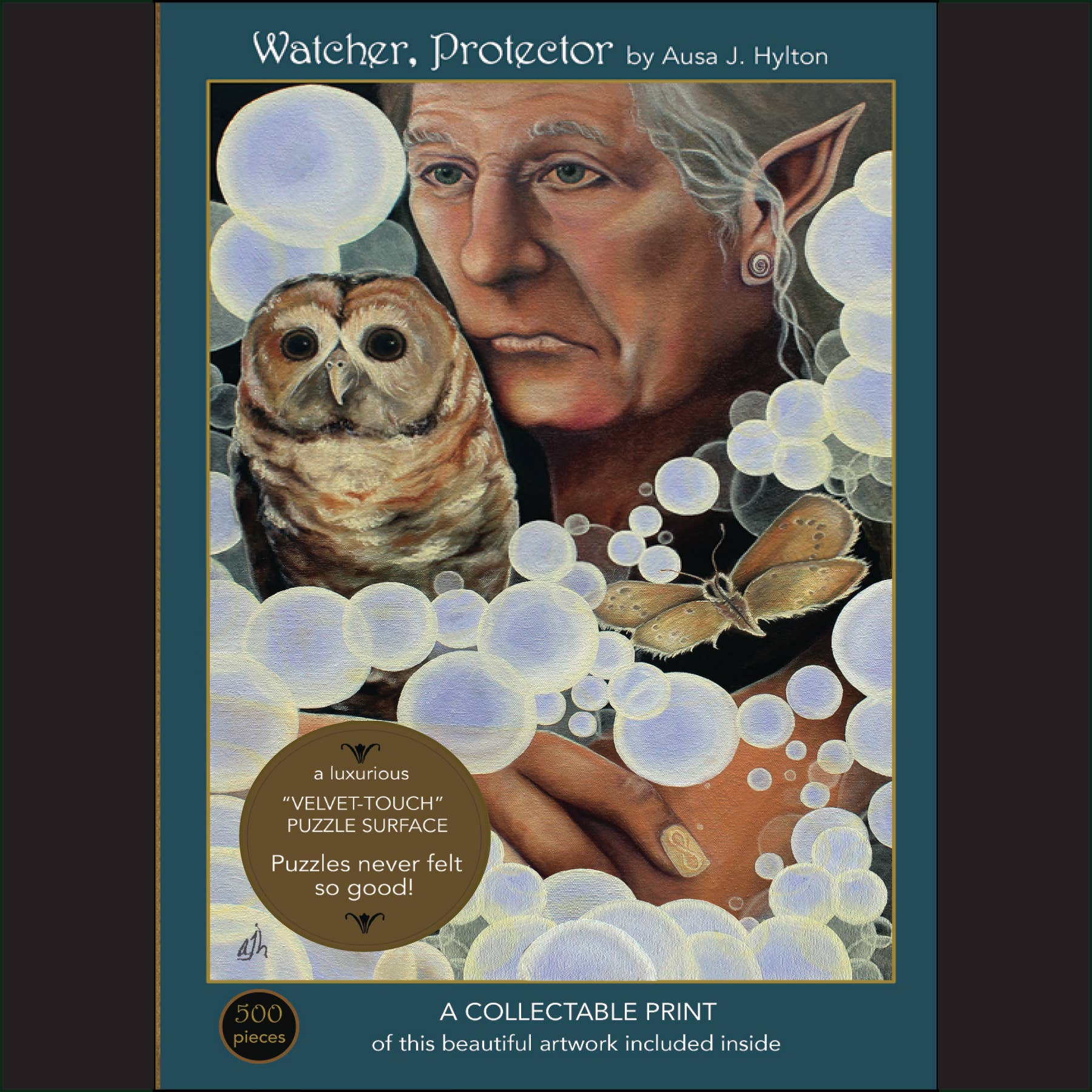 """Watcher, Protector; 500-Piece """"Velvet-Touch"""" Jigsaw Puzzle 