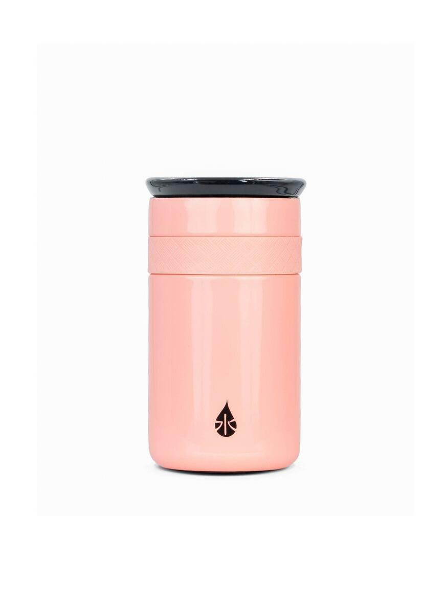 Artisan 12oz Gloss Rose Pink Tumbler with ceramic lid   Trada Marketplace