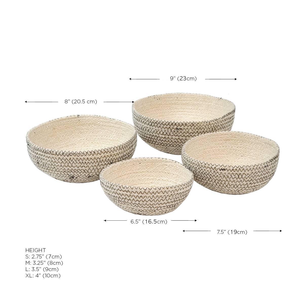 Amari Round Bowl - Black (Set of 4)   Trada Marketplace