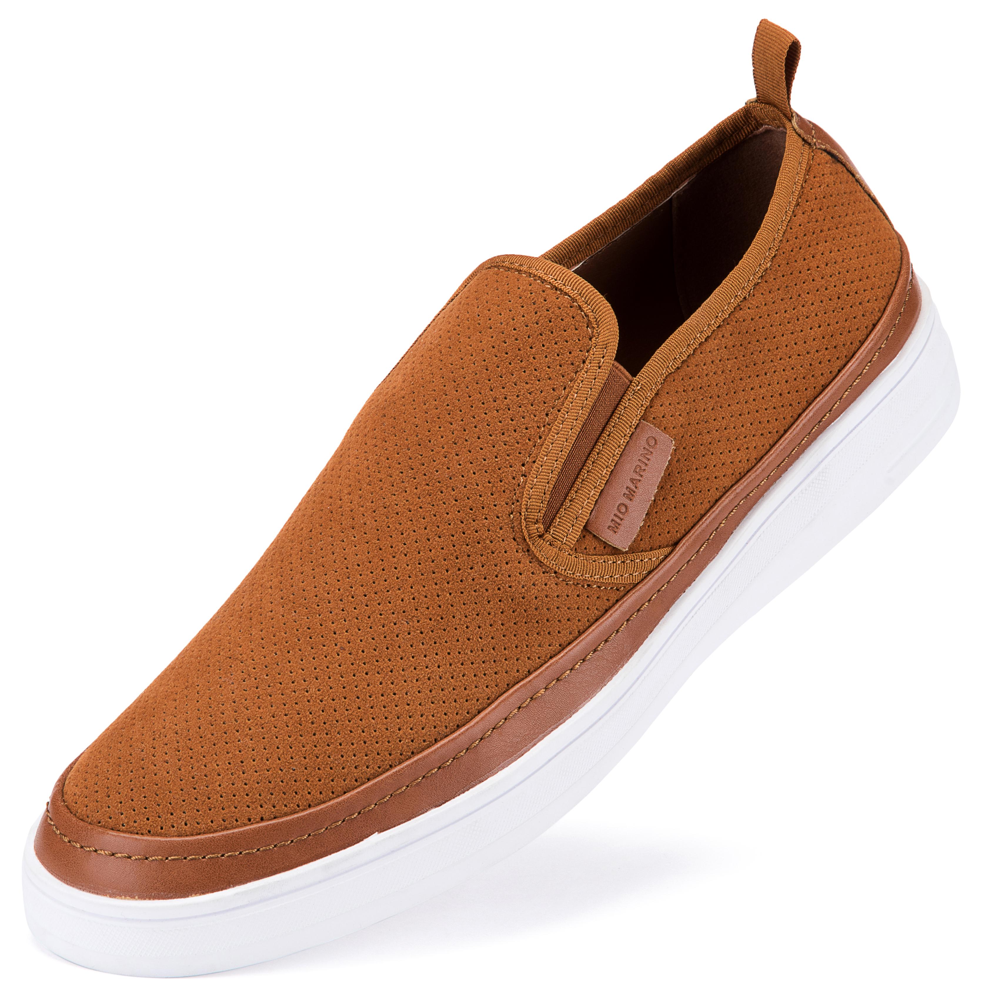 Suede Fashion Sneaker Cognac | Trada Marketplace