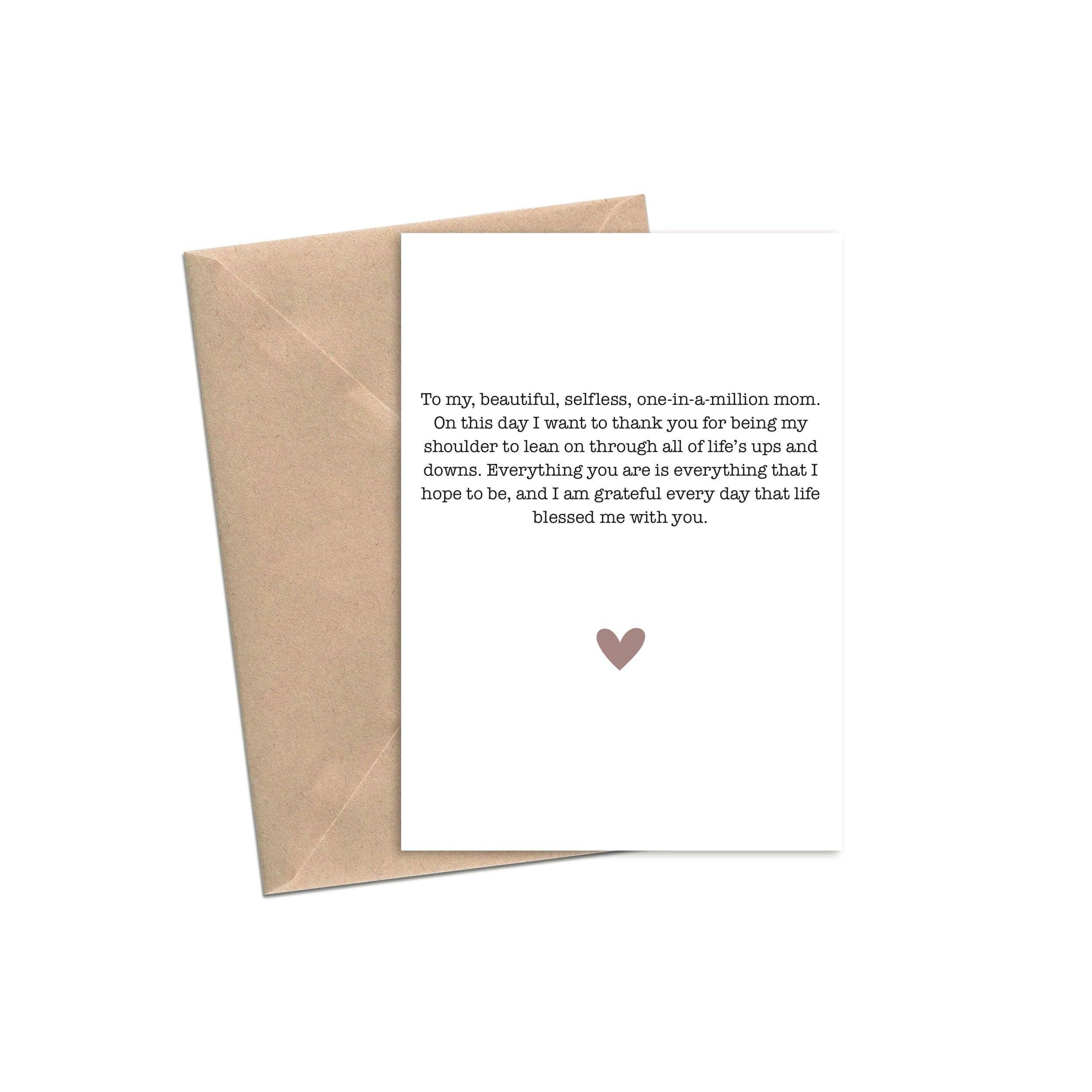 Heartfelt Note to Mom | A2 | Trada Marketplace