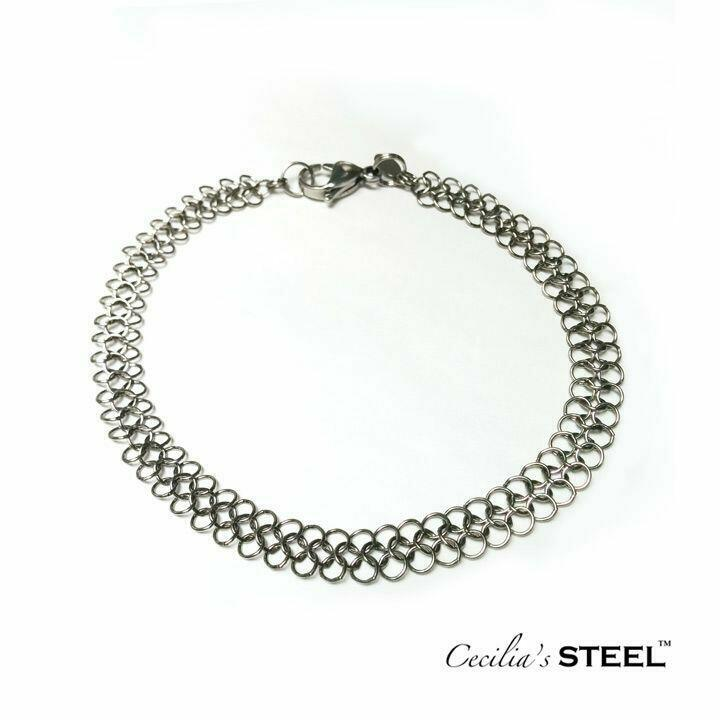 Steel Lace Anklet Narrow   Trada Marketplace