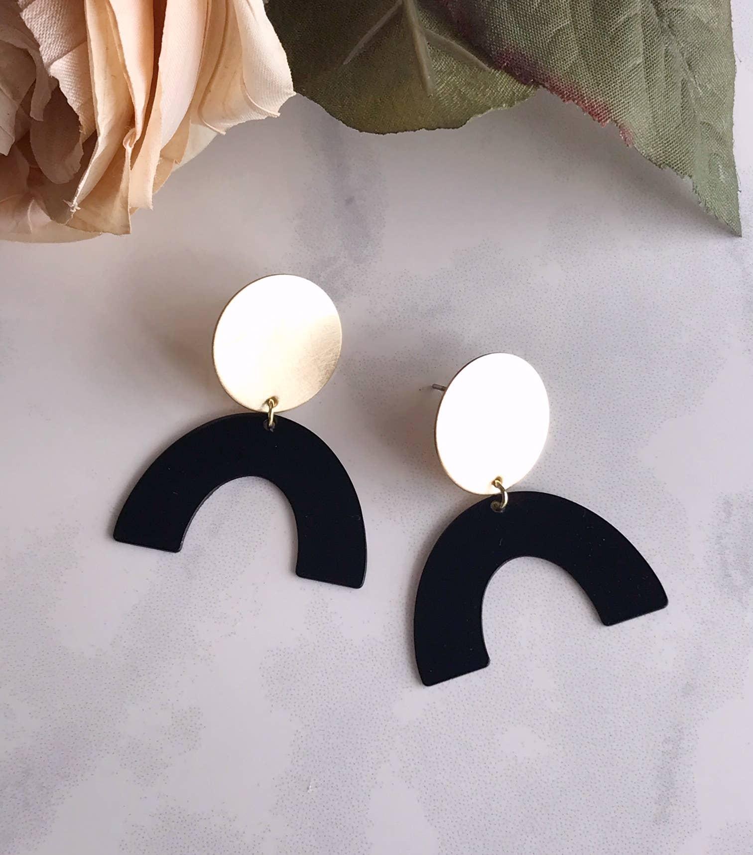 moon rising earrings - black   Trada Marketplace