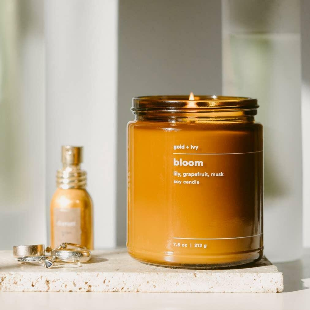 bloom 7.5 oz. soy candle - standard | Trada Marketplace