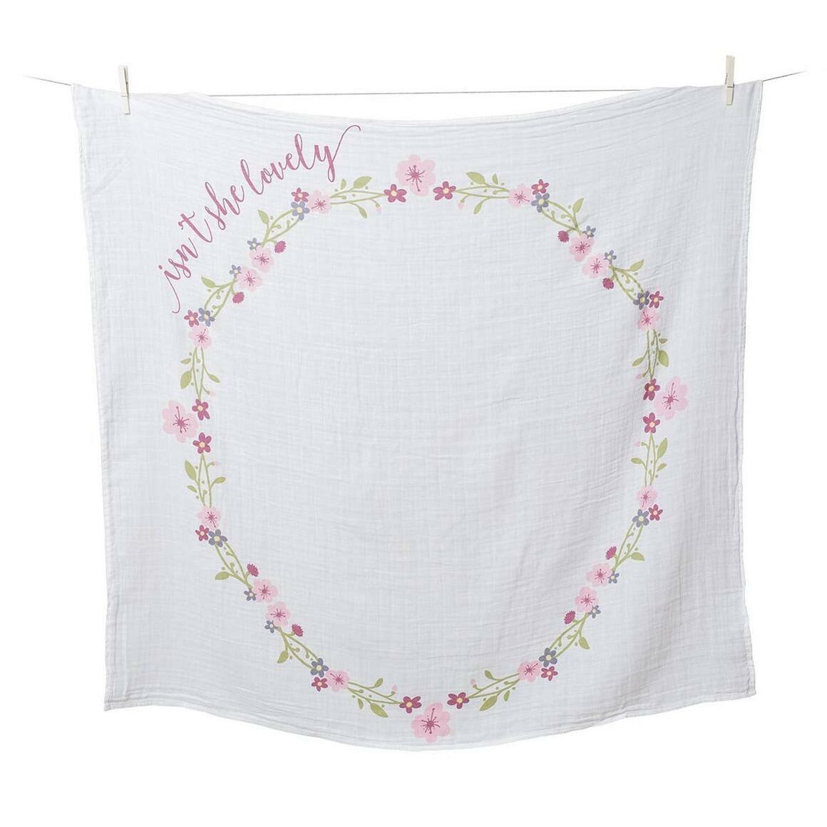 Single Cotton Swaddle & Cards - Isn't she Lovely   Trada Marketplace