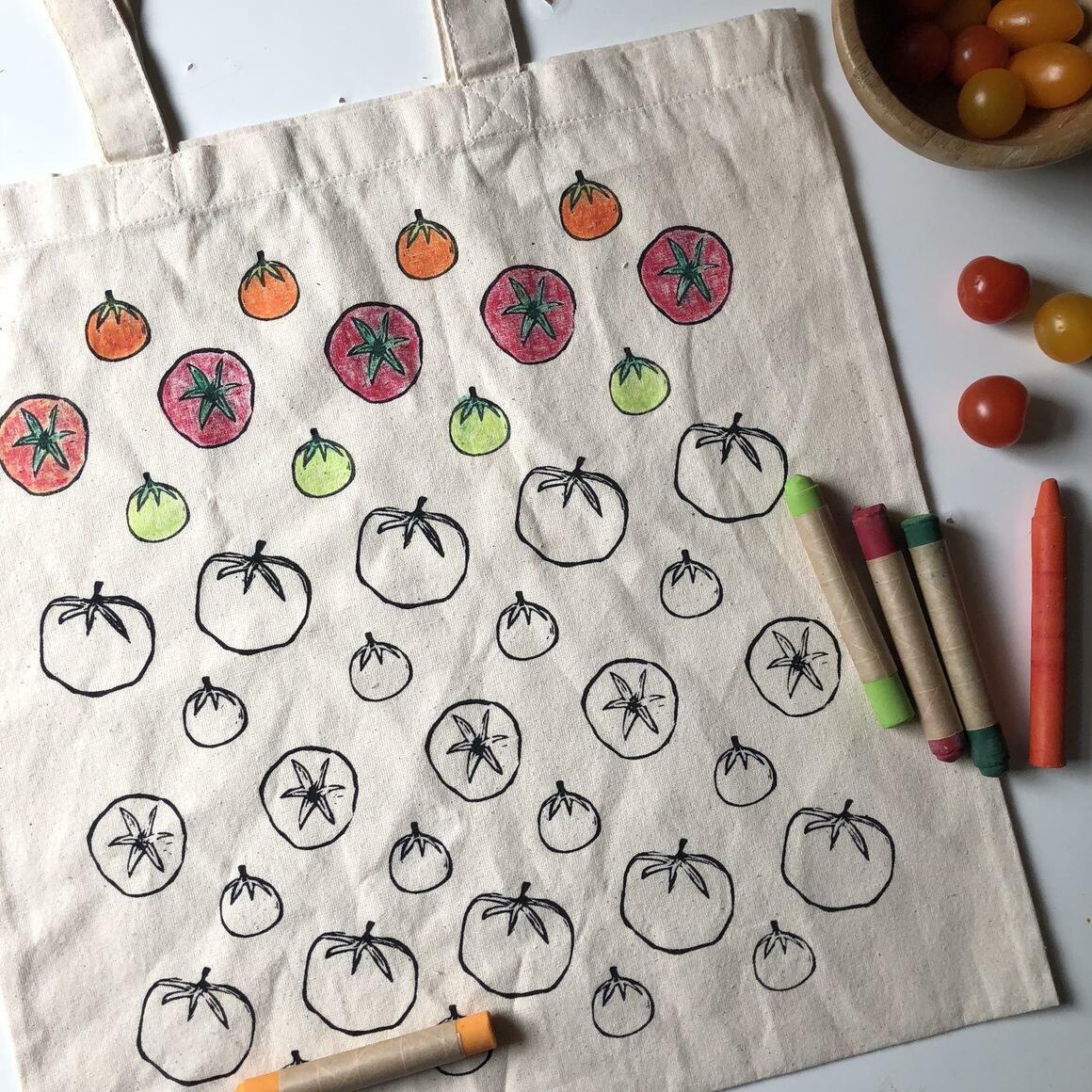 Tomato: CYO Market Tote Kit With Eco-Friendly Crayons | Trada Marketplace