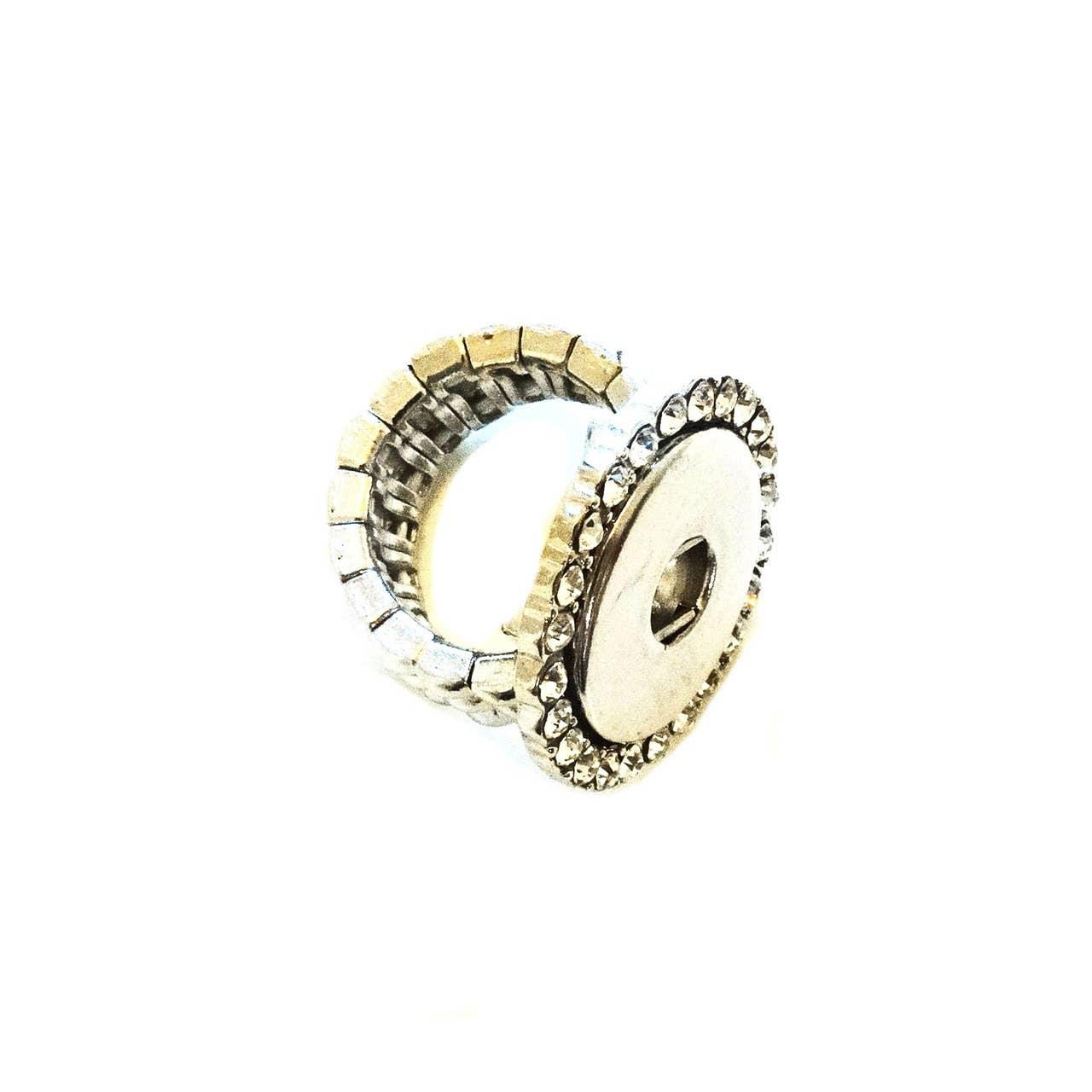 Crystal Snap Jewel Stretch Ring | Trada Marketplace