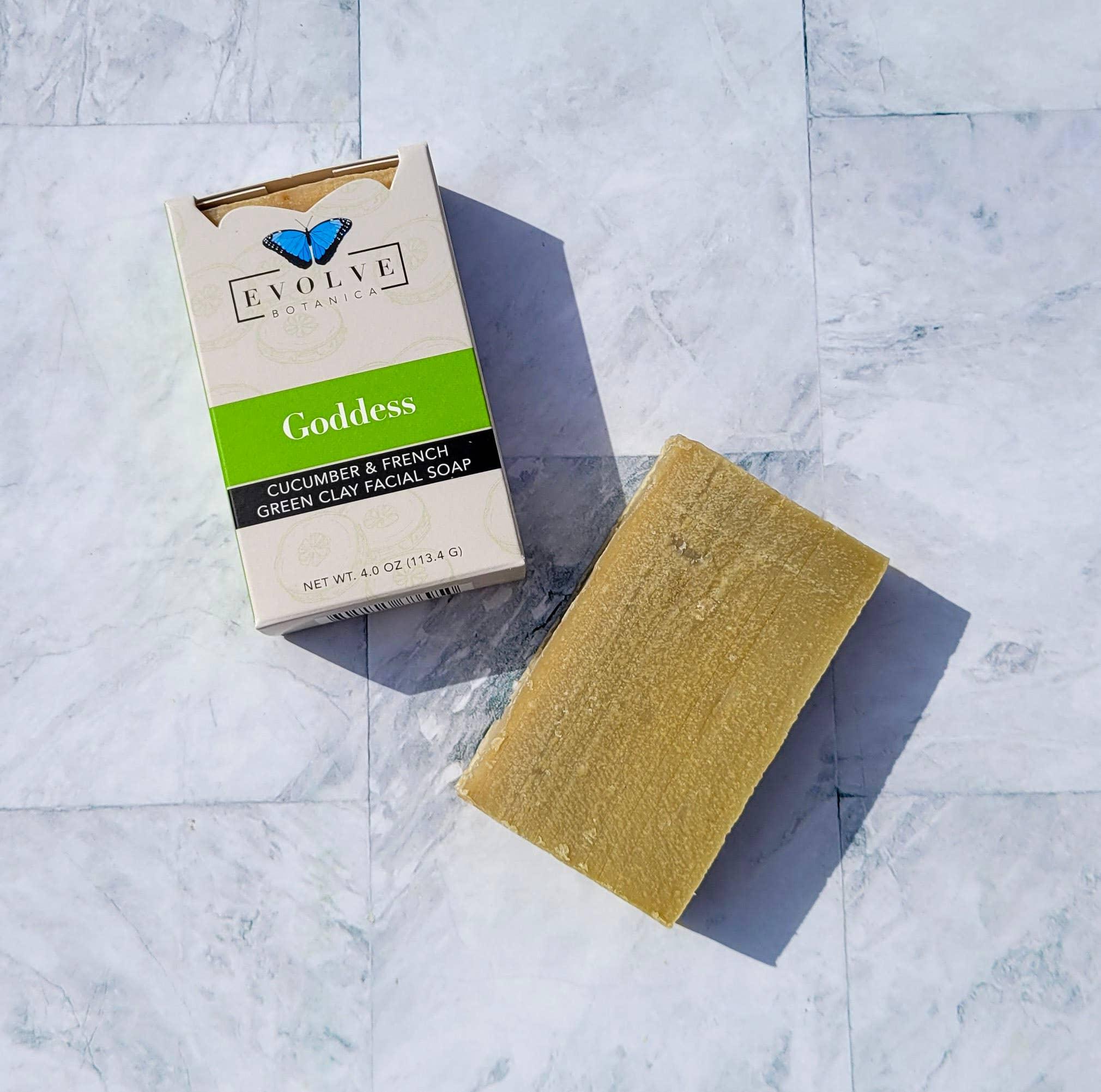 Evolve - Standard Soap - Goddess(Cucumber & Green Clay)(Face | Trada Marketplace