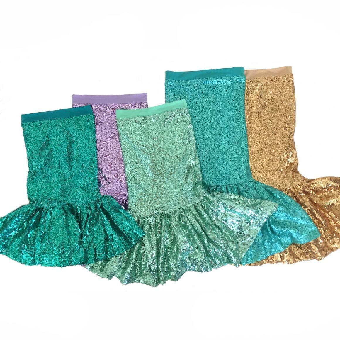 Aqua Sequin Mermaid Skirt | Trada Marketplace