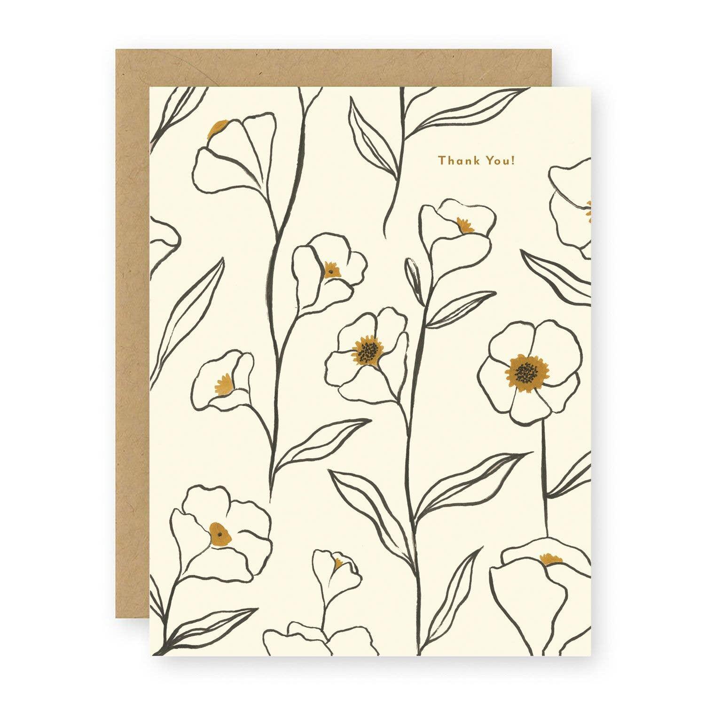 Thank You ~ Flowers Notecard   Trada Marketplace