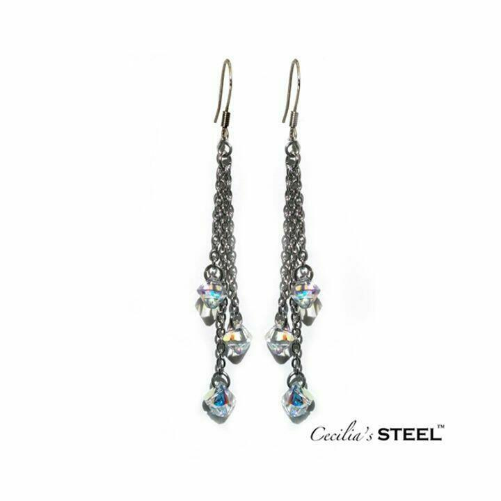 Crystal Whispers Earrings 3 Strands   Trada Marketplace