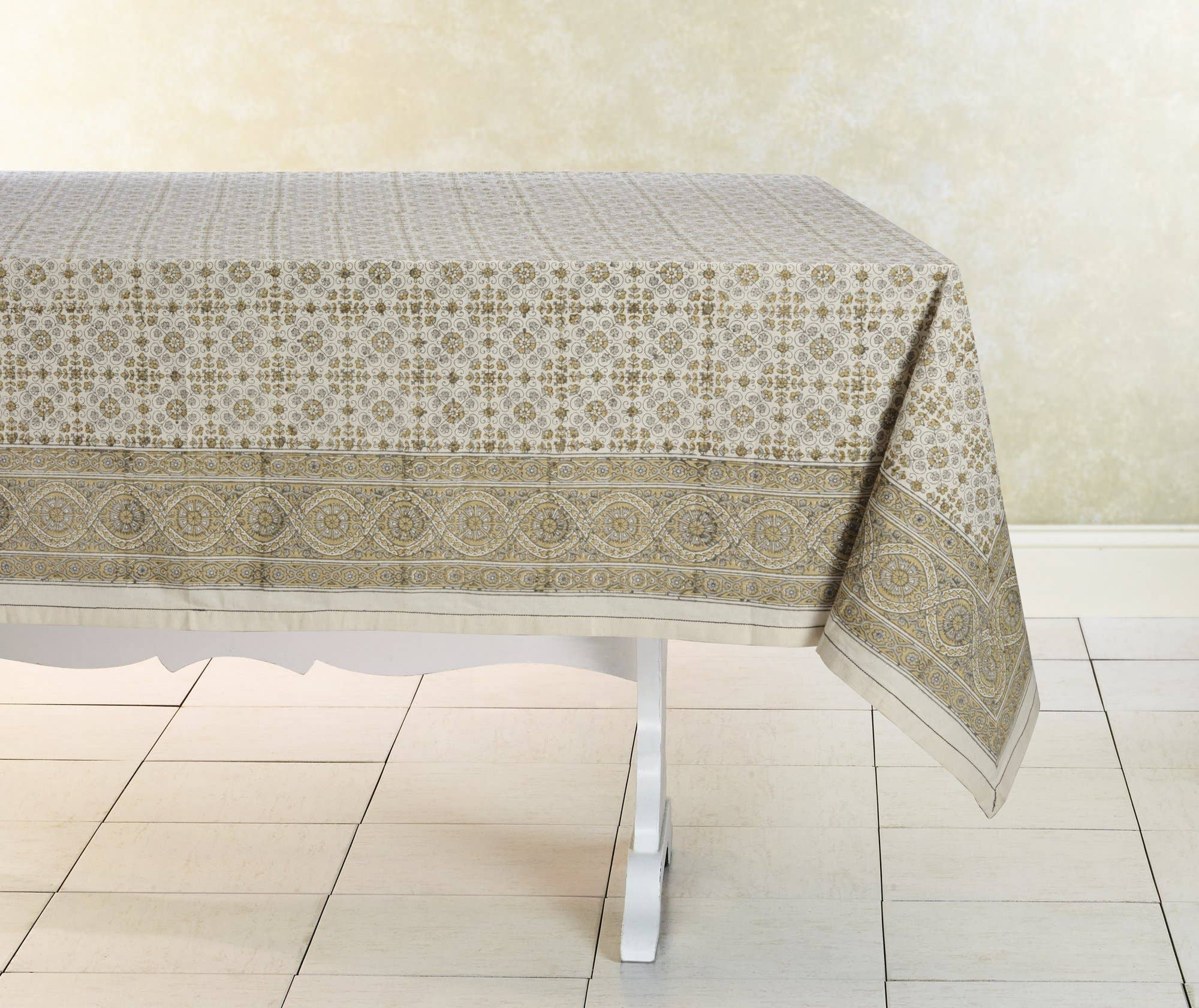 Lily Tablecloth Hand Block Printed Cotton | Trada Marketplace