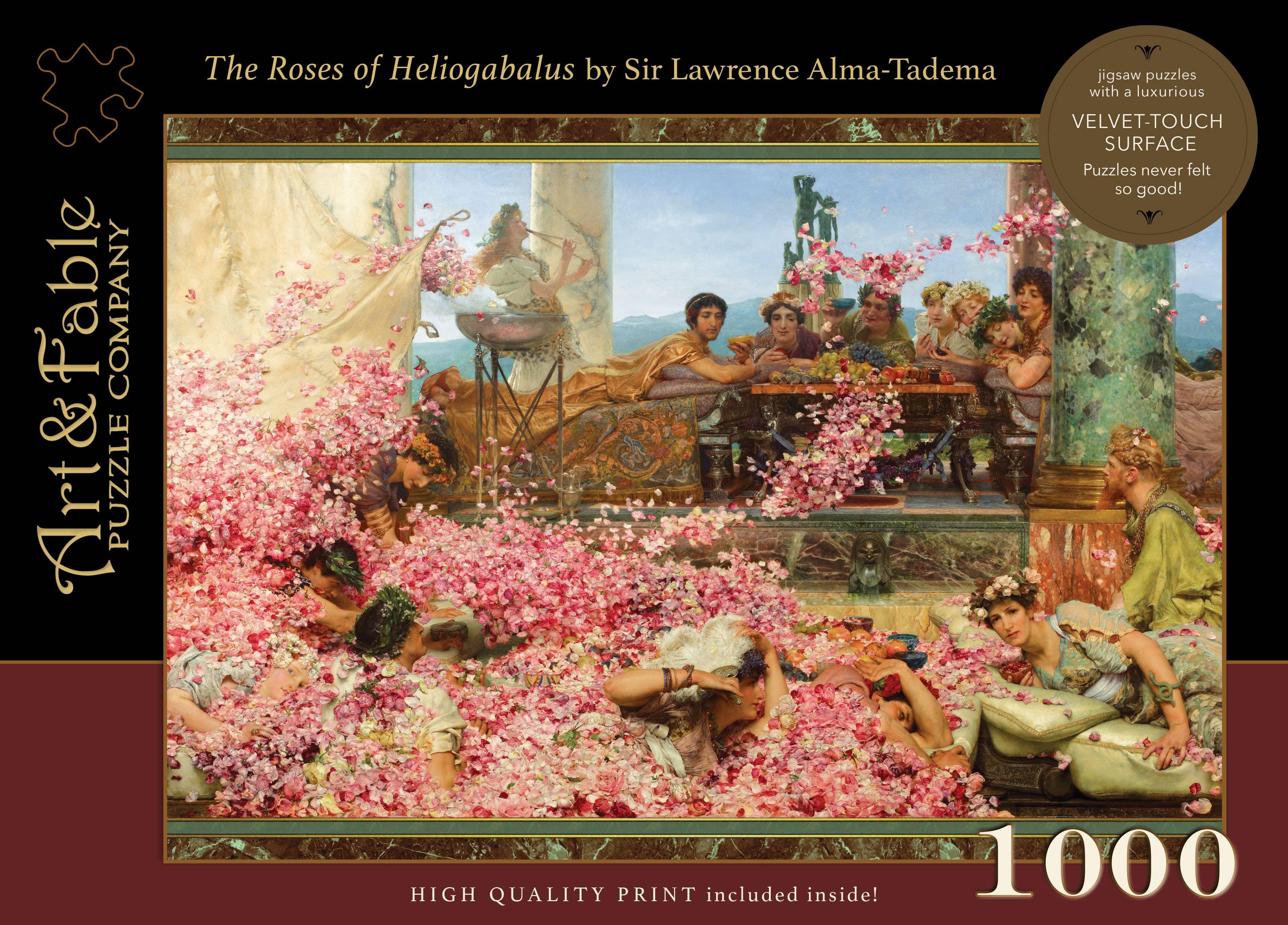 The Roses of Heliogabalus, 1000-pc Velvet-Touch Puzzle | Trada Marketplace
