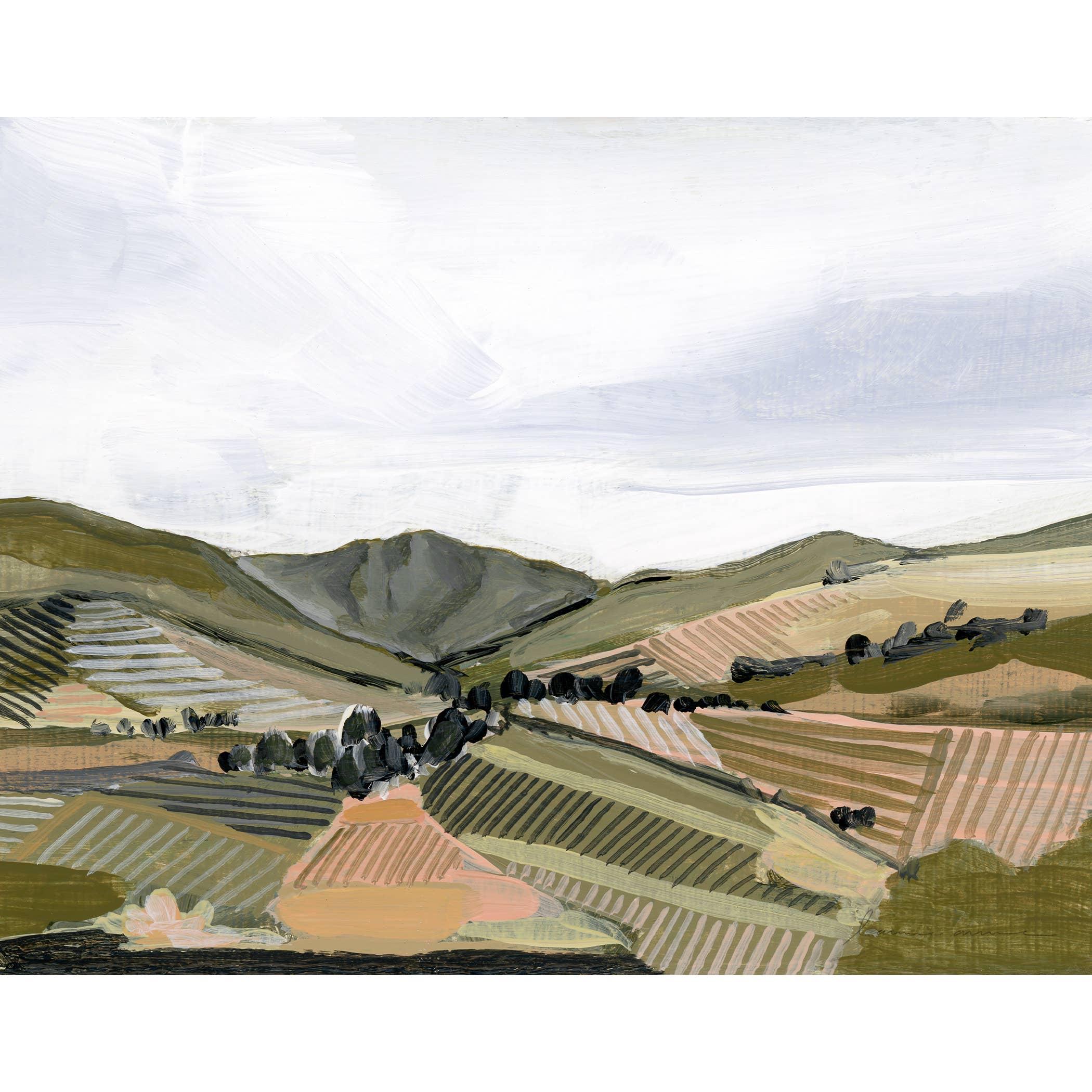 Fields Horizontal Canvas Print   Trada Marketplace