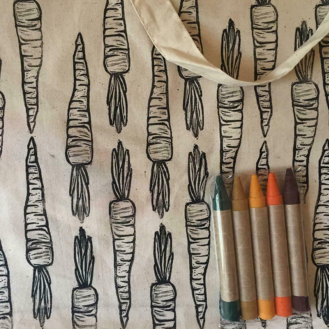 Carrot: CYO Market Tote Kit With Eco-Friendly Crayons | Trada Marketplace