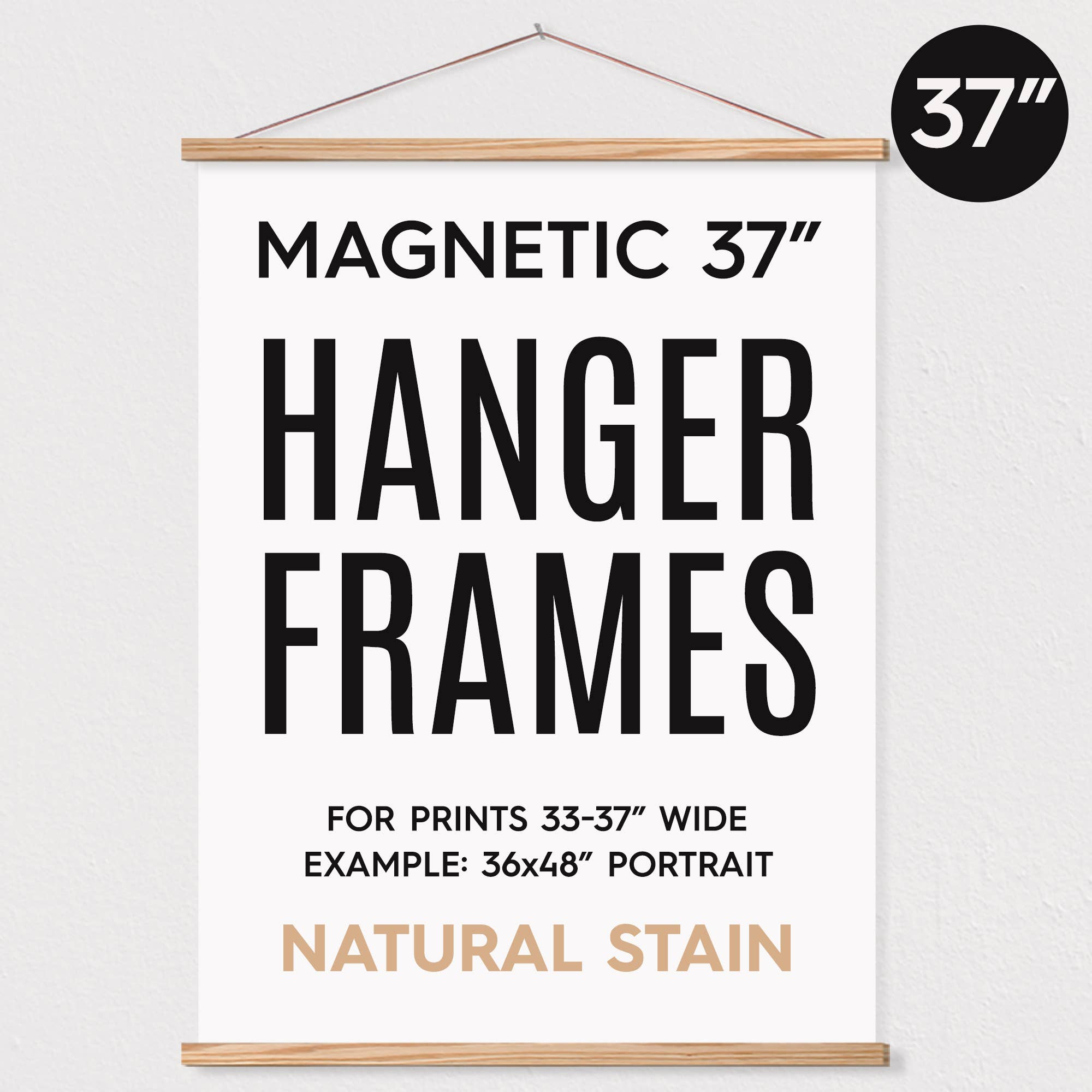 "37"" MAGNETIC Poster Hanger Frame for 36x48"" Portrait Prints   Trada Marketplace"