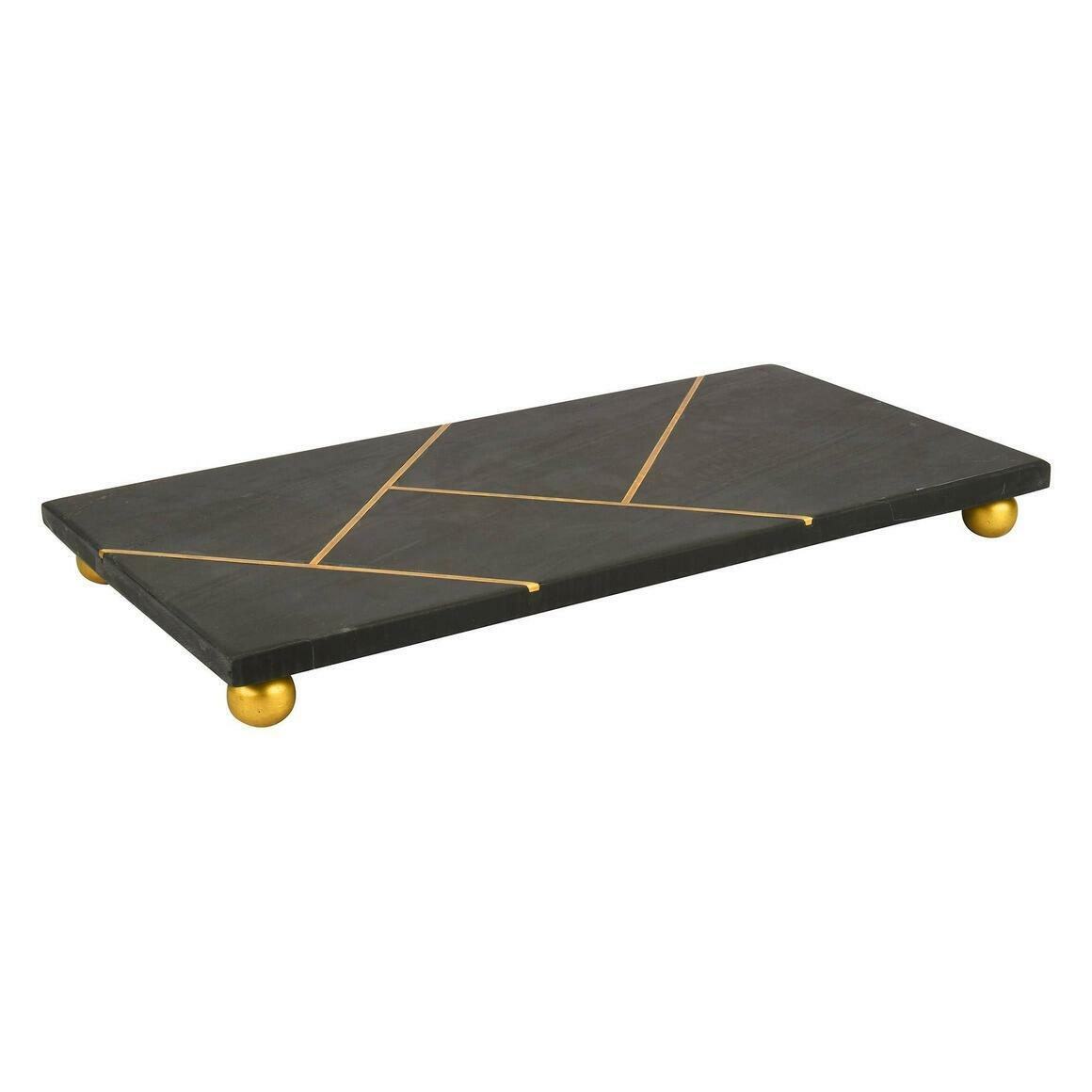 "Oslo Black Stone Serving Platter (14""x7"")   Trada Marketplace"
