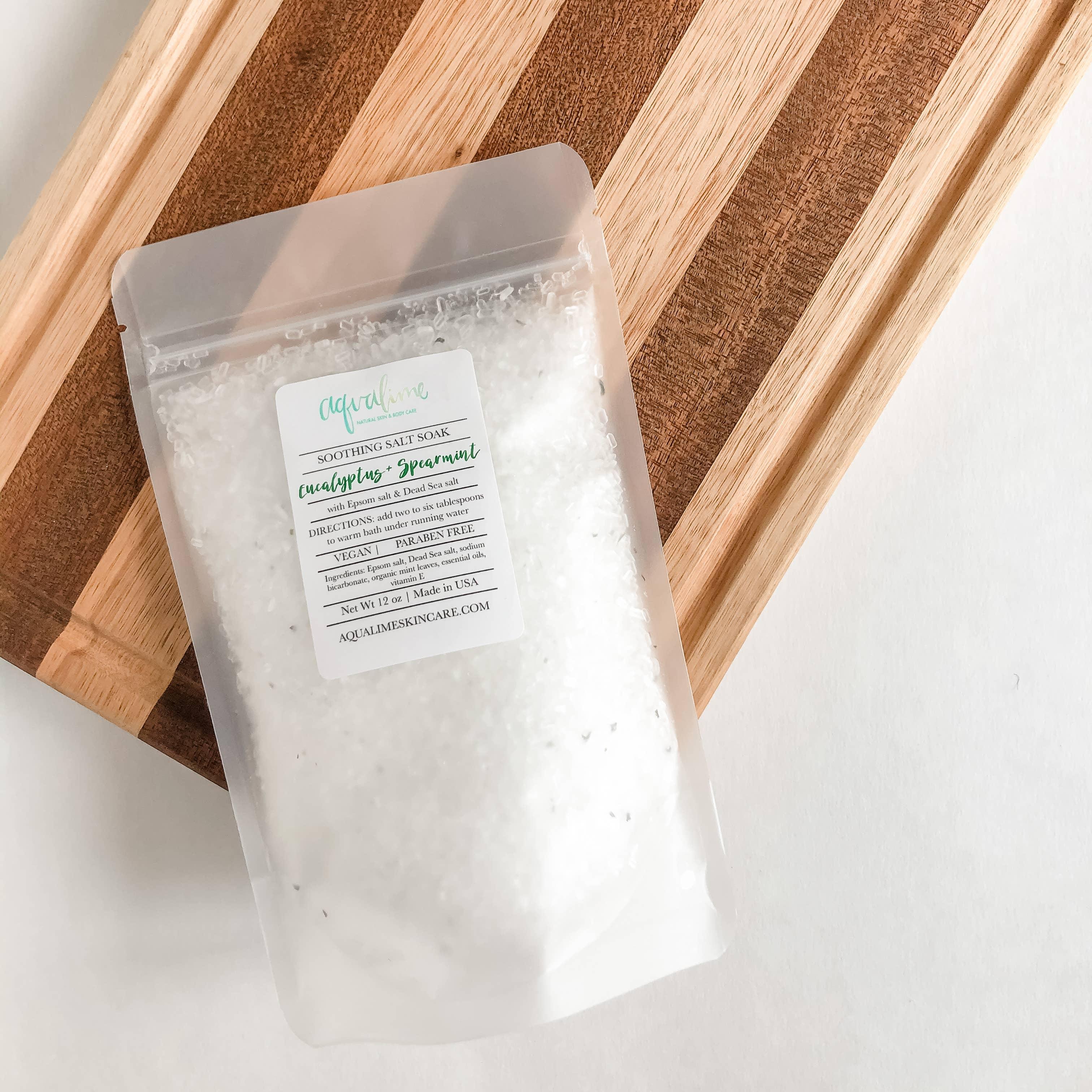 Eucalyptus Spearmint Soothing Soaking Salts   Trada Marketplace