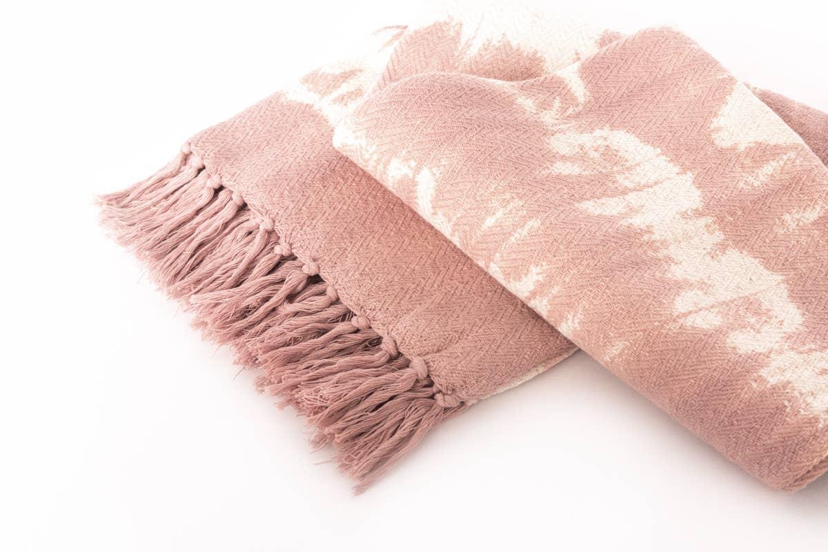 Pink Tie Dye Throw Blanket   Trada Marketplace