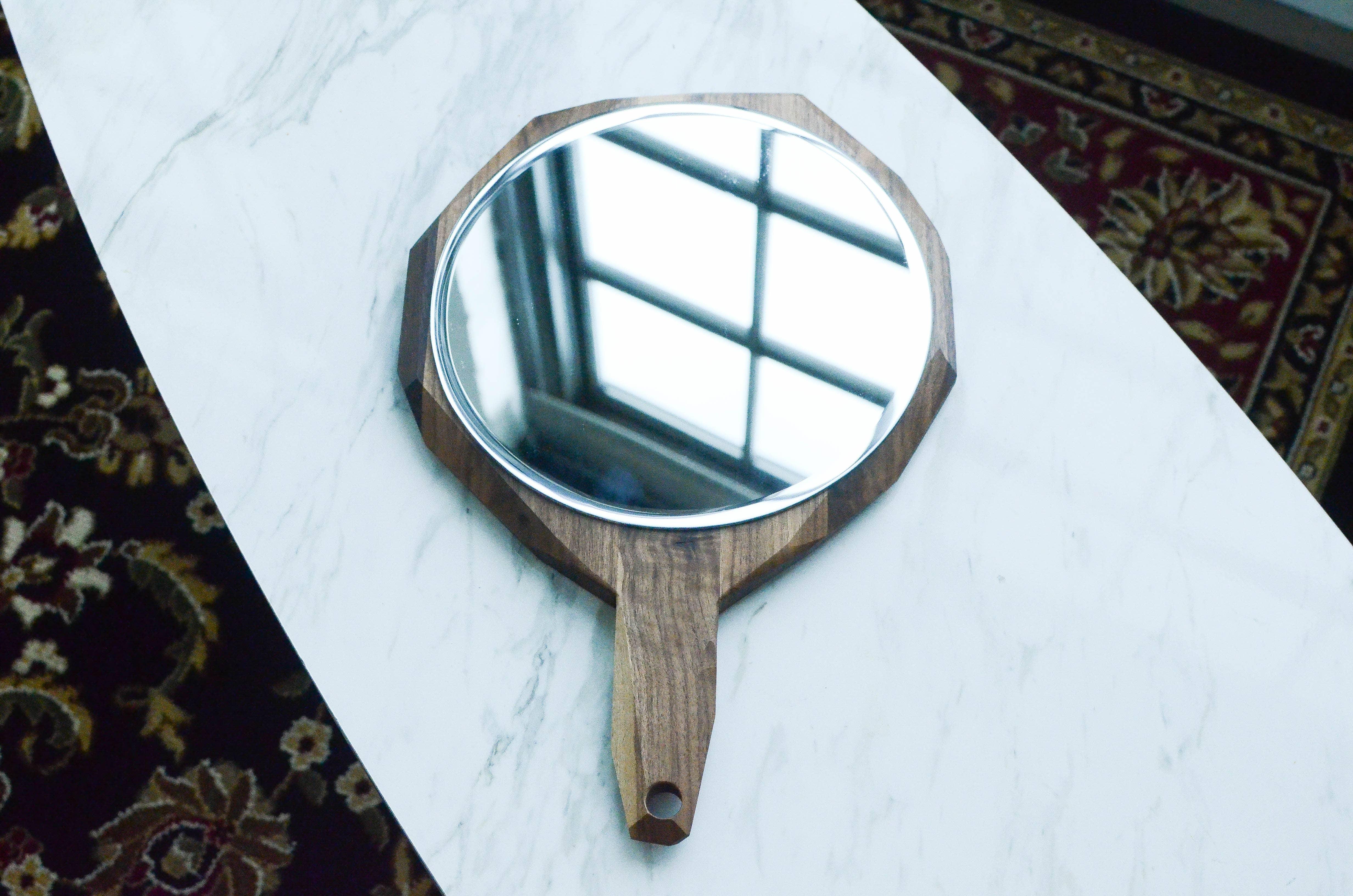 "Geometric Hand Mirror 12"" | Trada Marketplace"
