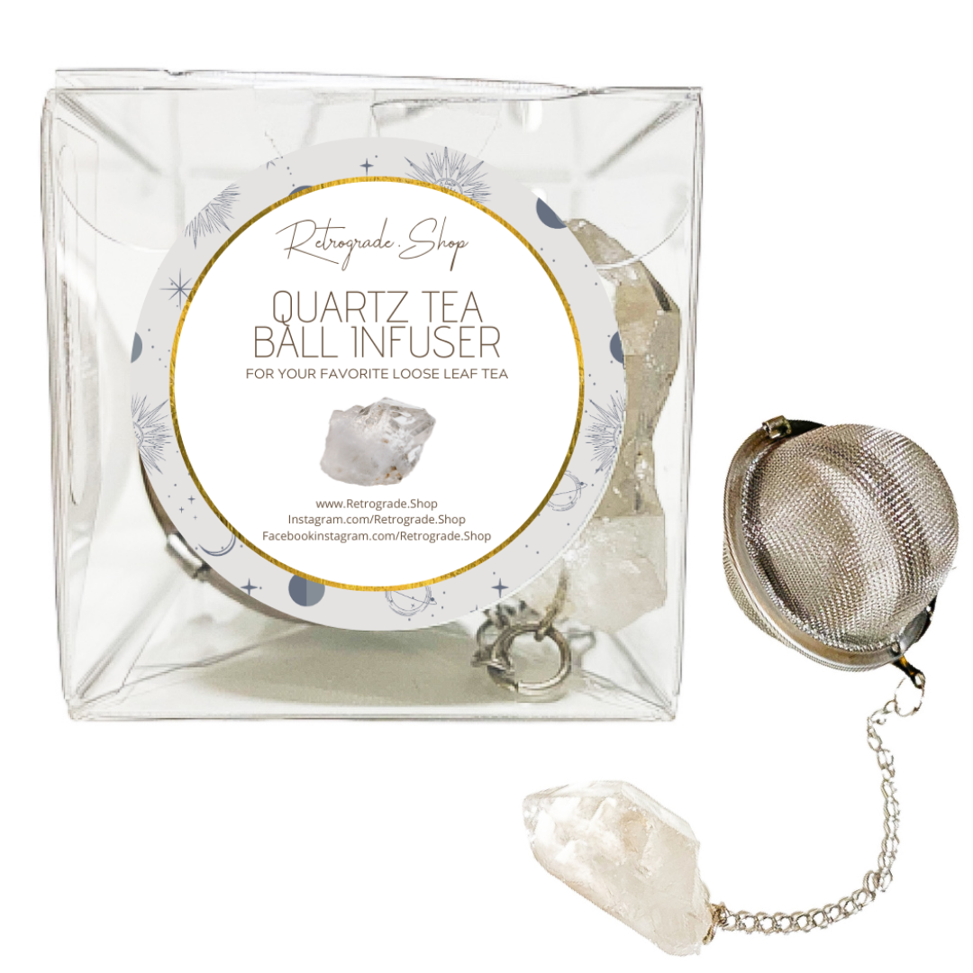 Clear Quartz Crystal Gemstone 2-Inch Tea Ball Infuser   Trada Marketplace