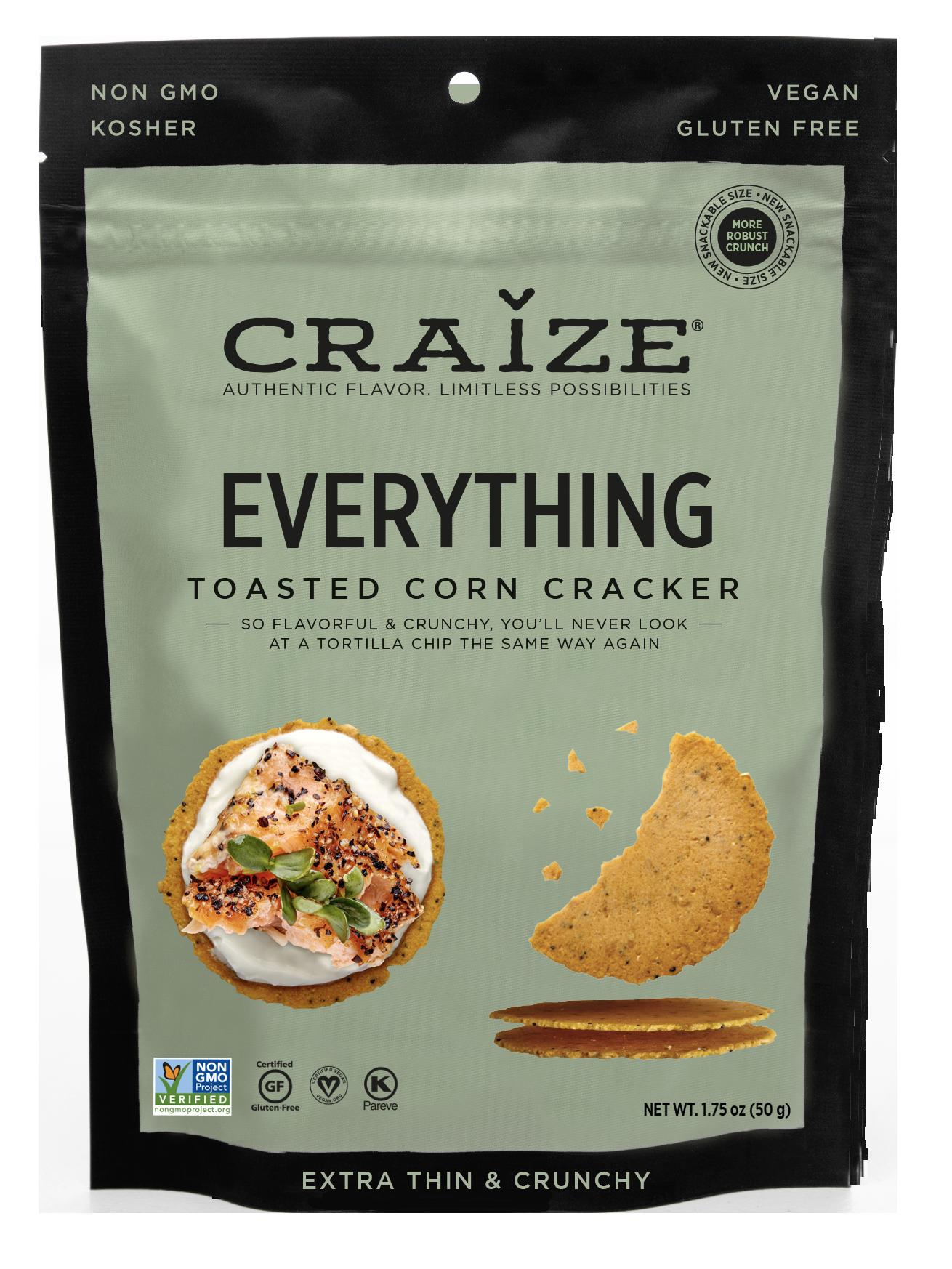 Everything Toasted Corn Crackers 1.75oz | Trada Marketplace