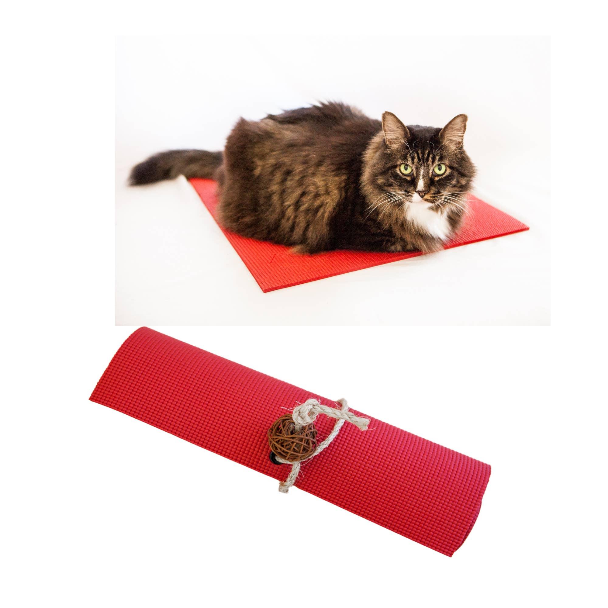 Red Yoga Cat Mat   Trada Marketplace