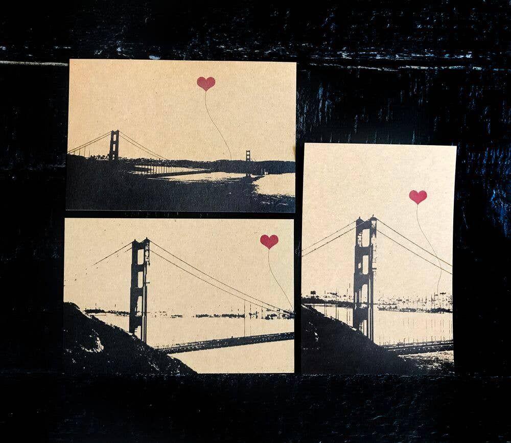 San Francisco Vertical Golden Gate Single Postcard | Trada Marketplace