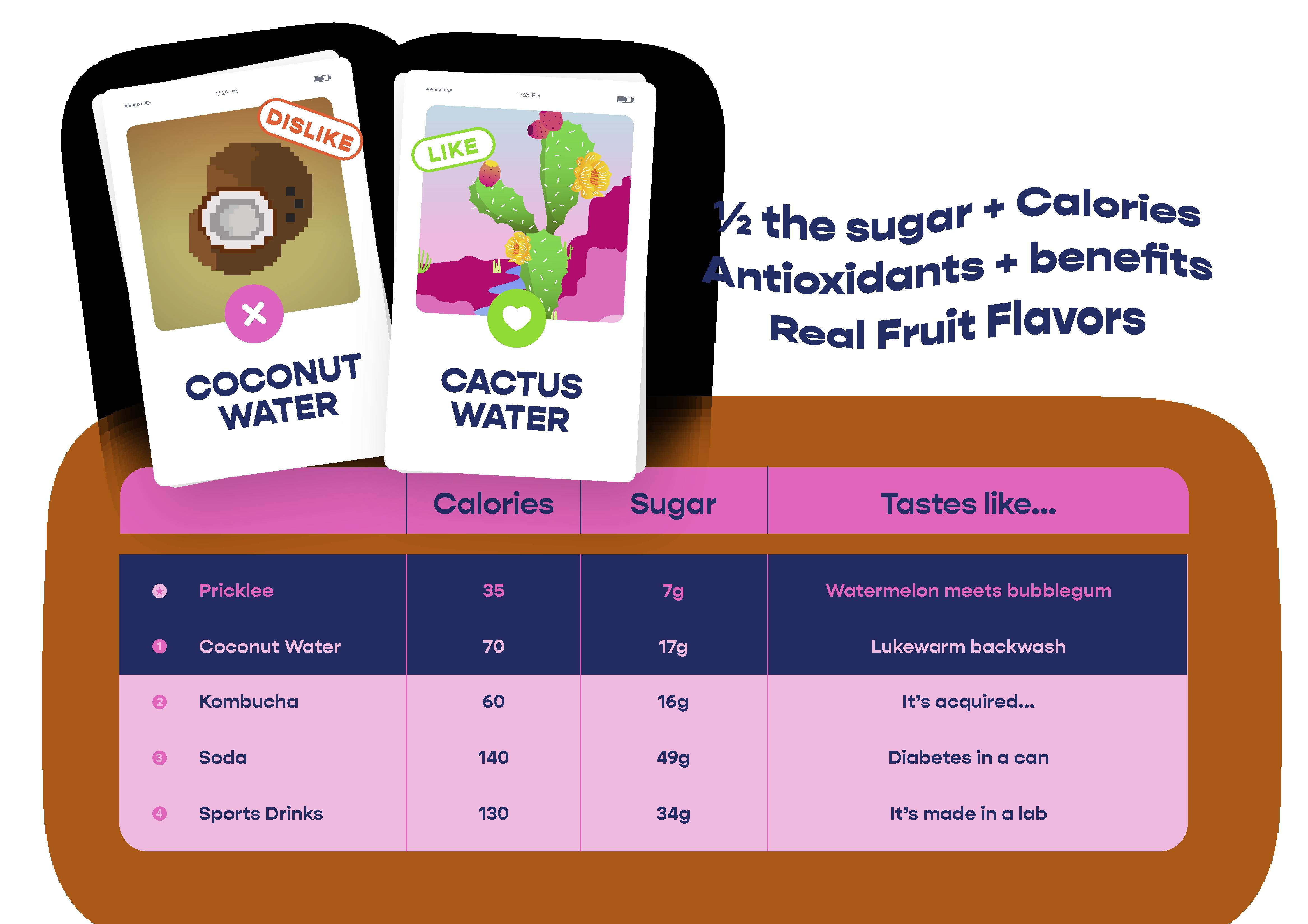 Pricklee Cactus Water - Strawberry Hibiscus (12-pack) | Trada Marketplace