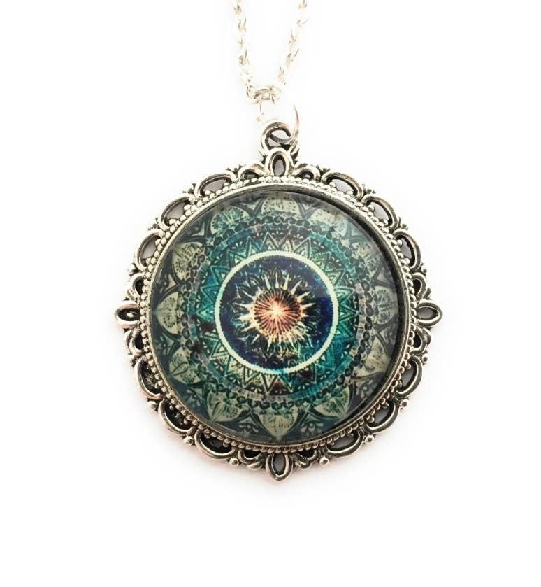 Blue Mandala Necklace | Trada Marketplace